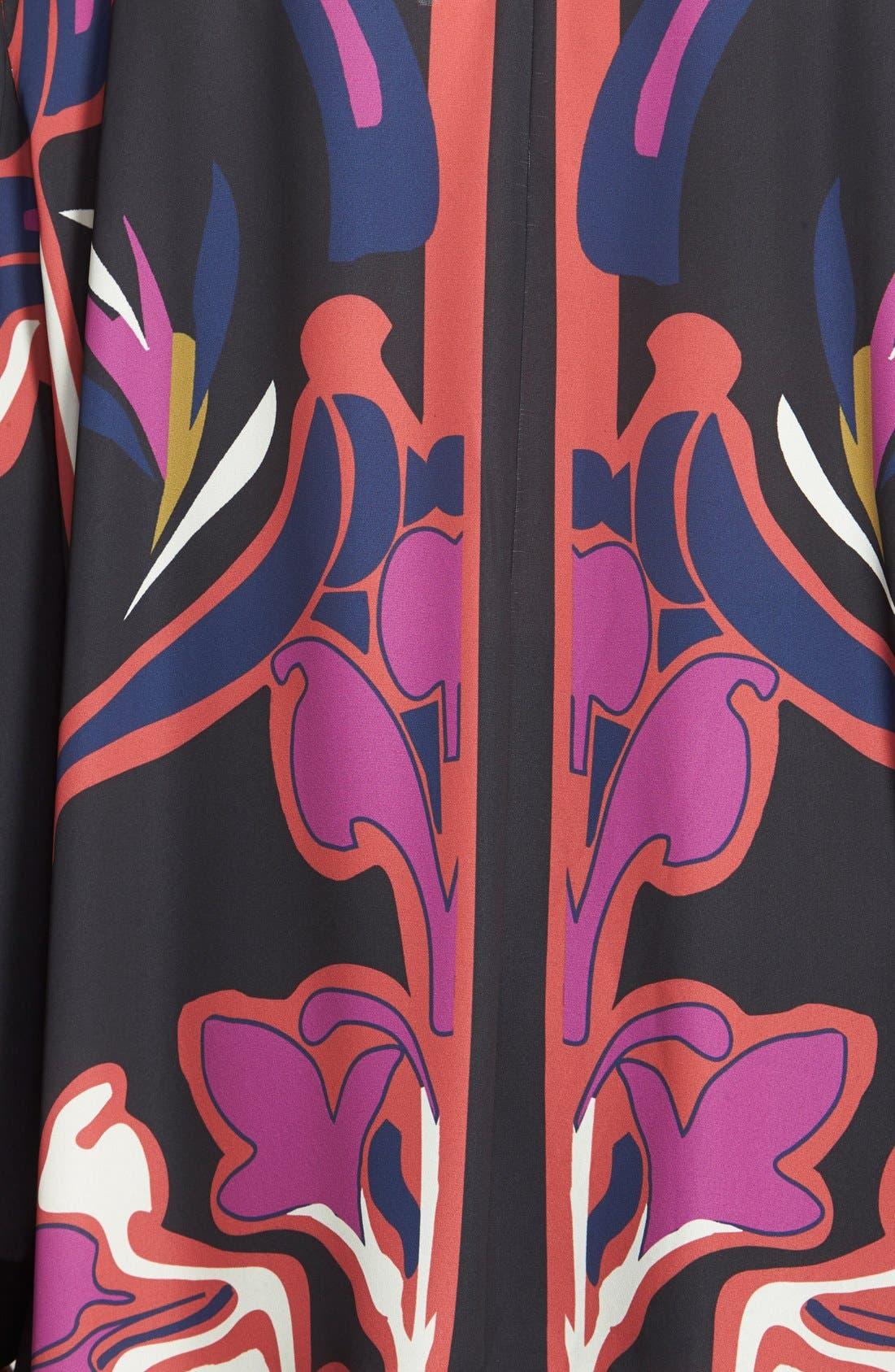 Alternate Image 3  - Sejour Shark Bite Hem Kimono Top (Plus Size)