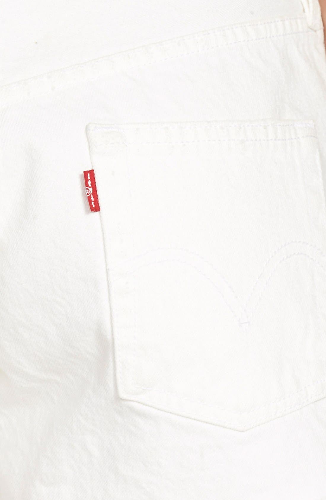 Alternate Image 3  - Levi's® '501®' Denim Cutoff Shorts (Vintage White)