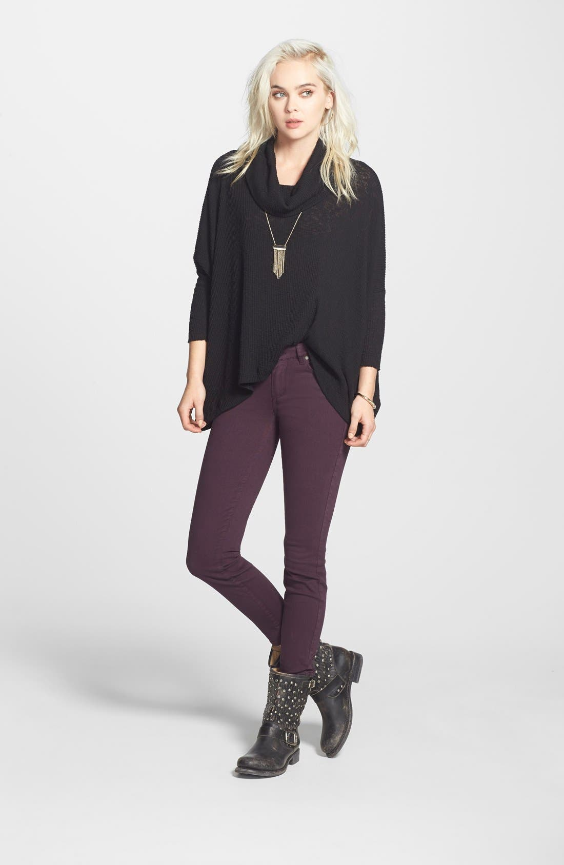 Alternate Image 9  - Paige Denim 'Verdugo' Ankle Skinny Jeans (Autumn Plum) (Nordstrom Exclusive)