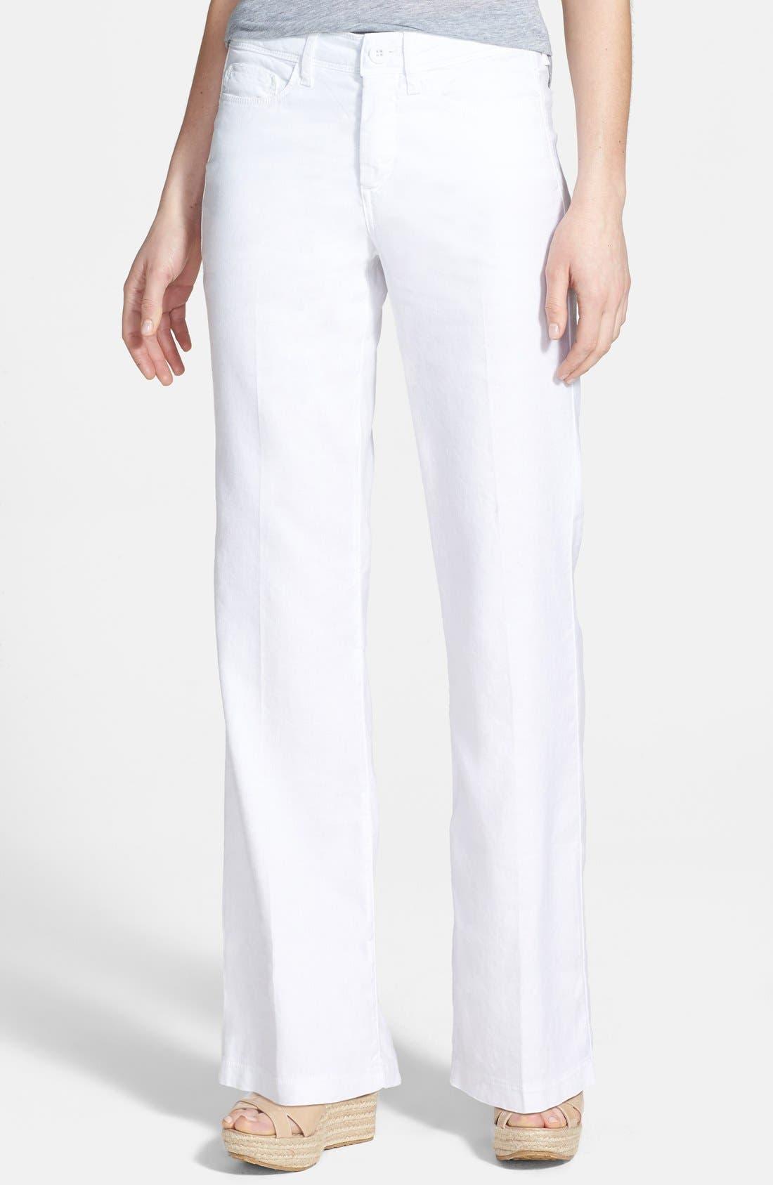 Main Image - NYDJ 'Wylie' Stretch Linen Trousers (Plus Size)