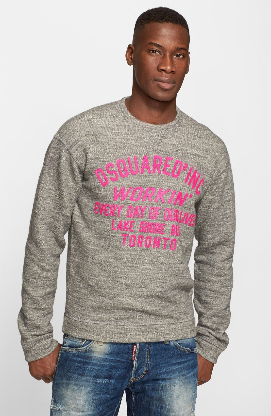 Alternate Image 1 Selected - Dsquared2 French Terry Graphic Sweatshirt