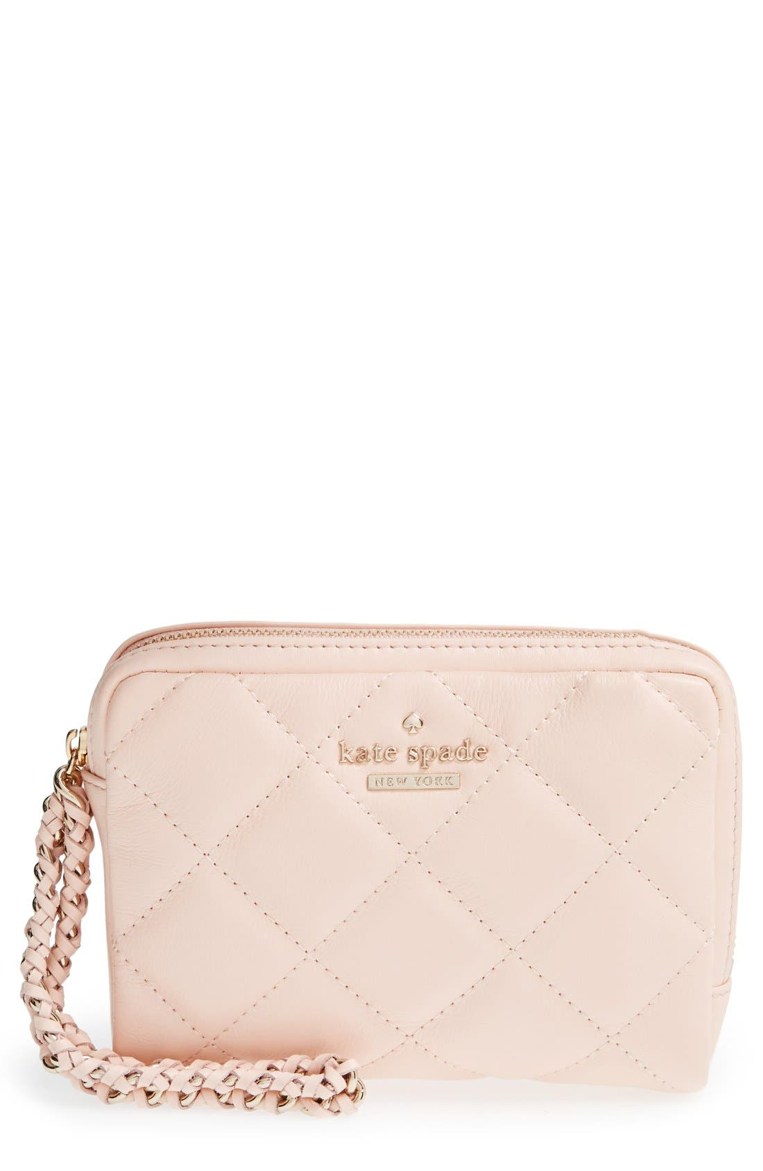 Main Image - kate spade new york 'emerson place - essa' quilted leather wristlet