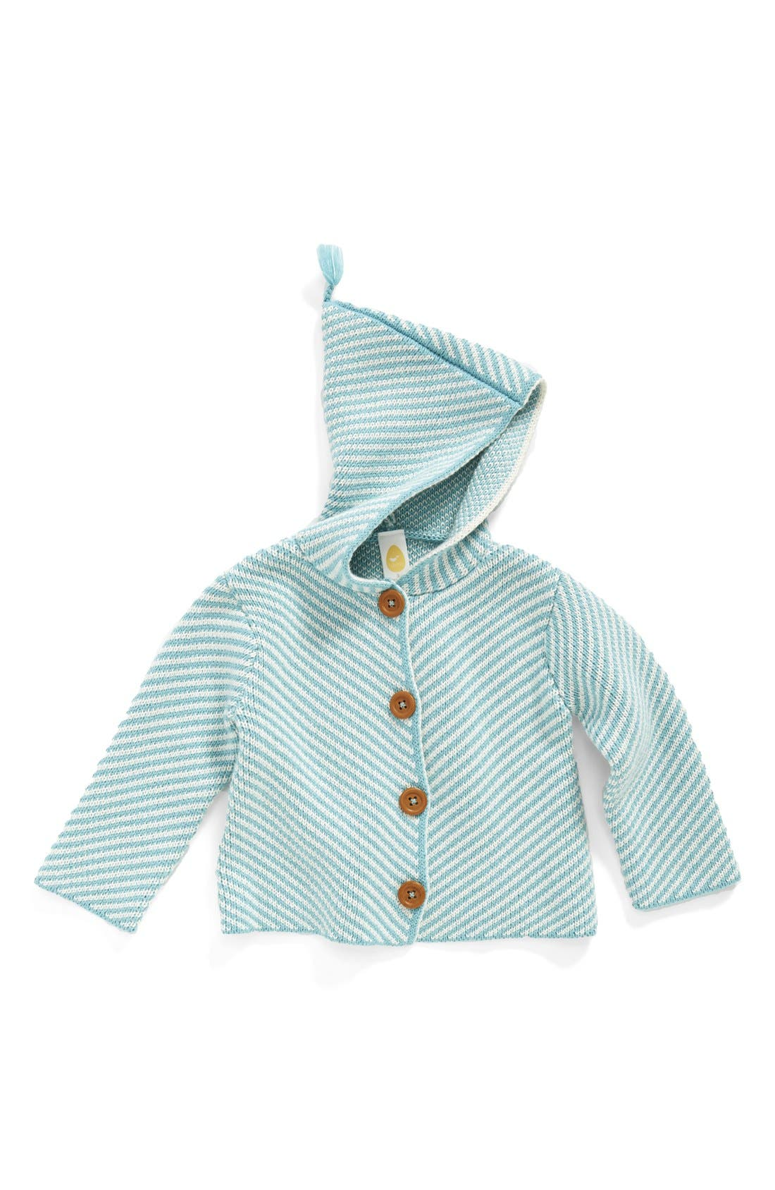 Alternate Image 1 Selected - Stem Baby Organic Cotton Hooded Cardigan (Baby Boys)