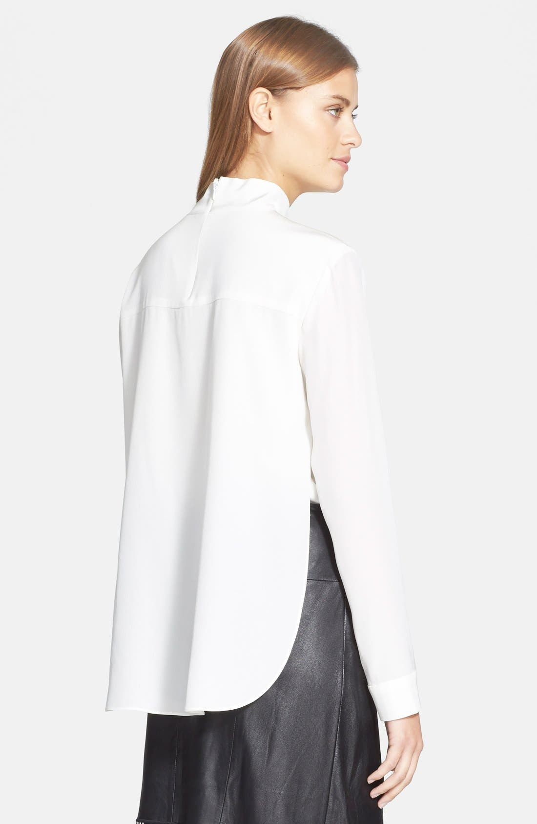 Alternate Image 3  - Tibi Double Layer Mock Neck Silk Top