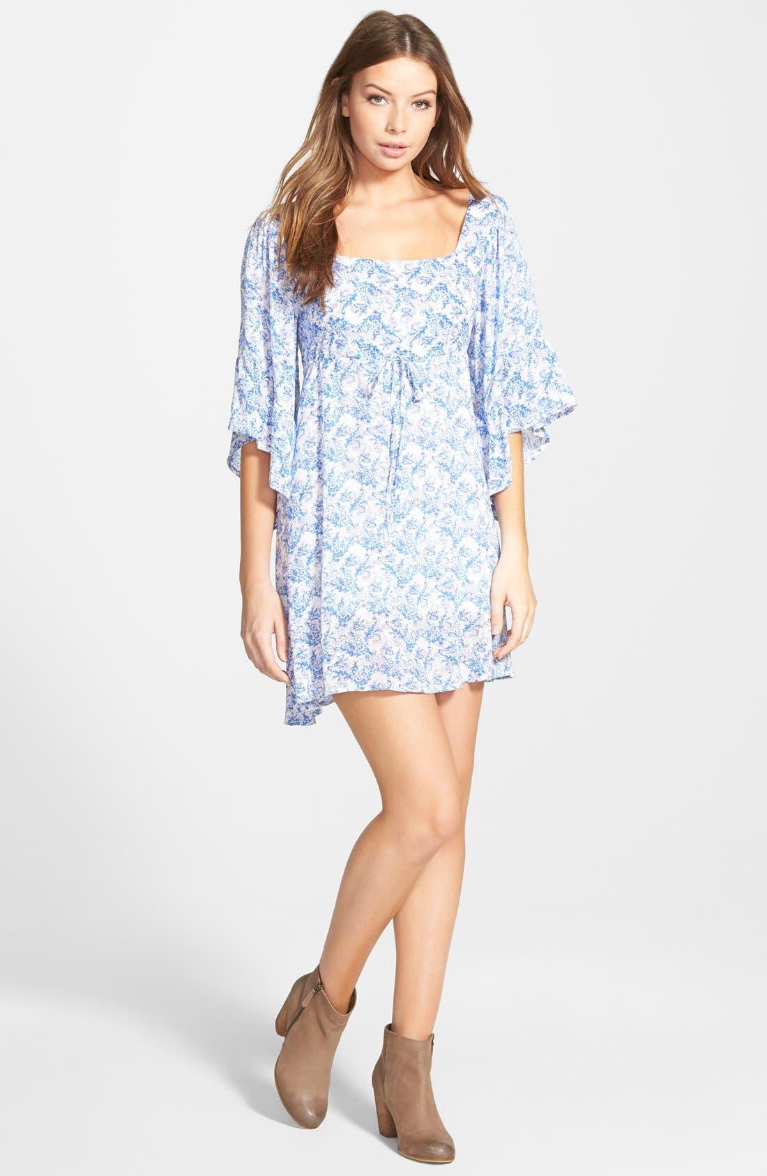 Main Image - Cream and Sugar Bell Sleeve Dress