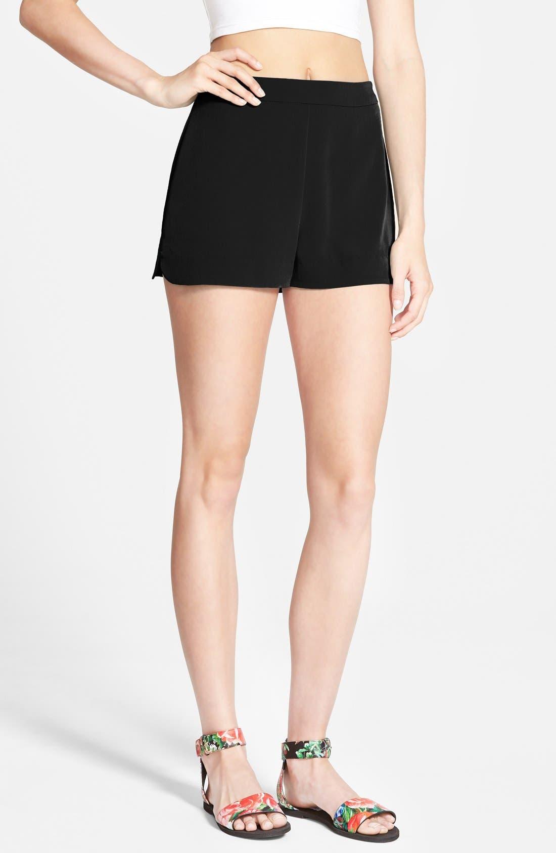 Alternate Image 1 Selected - Lush Woven Trouser Shorts