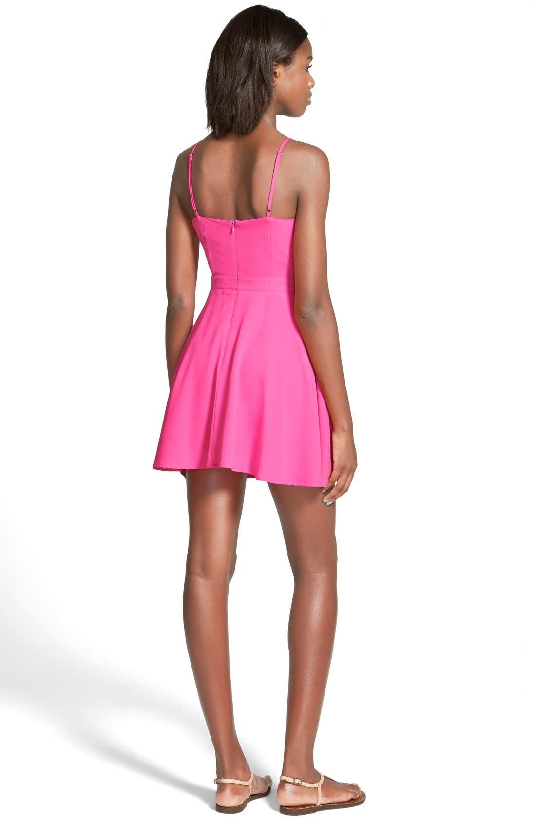 Alternate Image 2  - Cream and Sugar Cutout Skater Dress