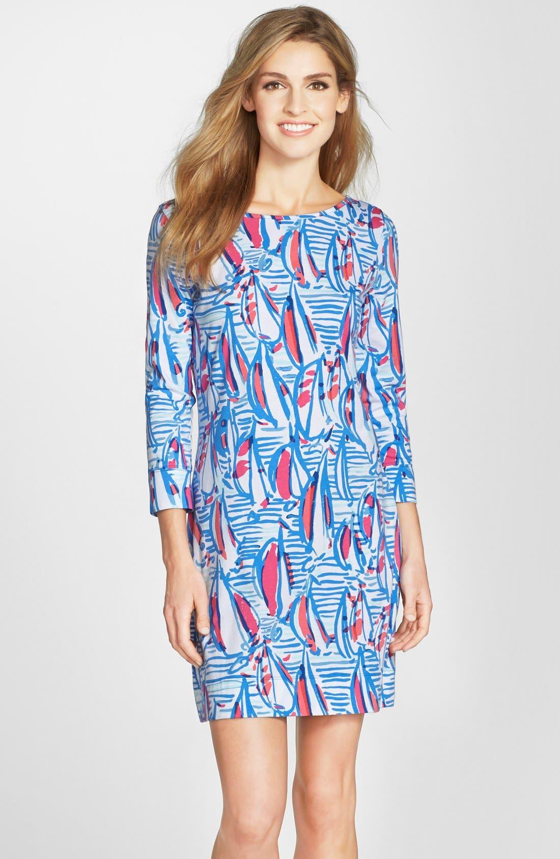 Main Image - Lilly Pulitzer® 'Marlowe' Print Pima Cotton Shift Dress