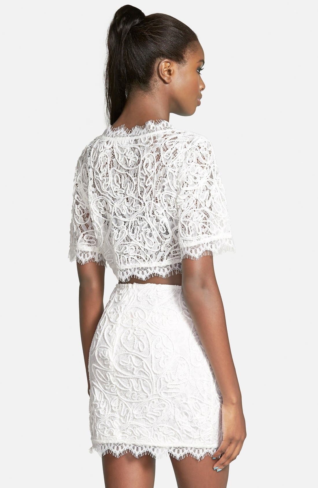 Alternate Image 3  - Leith Lace Crop Top