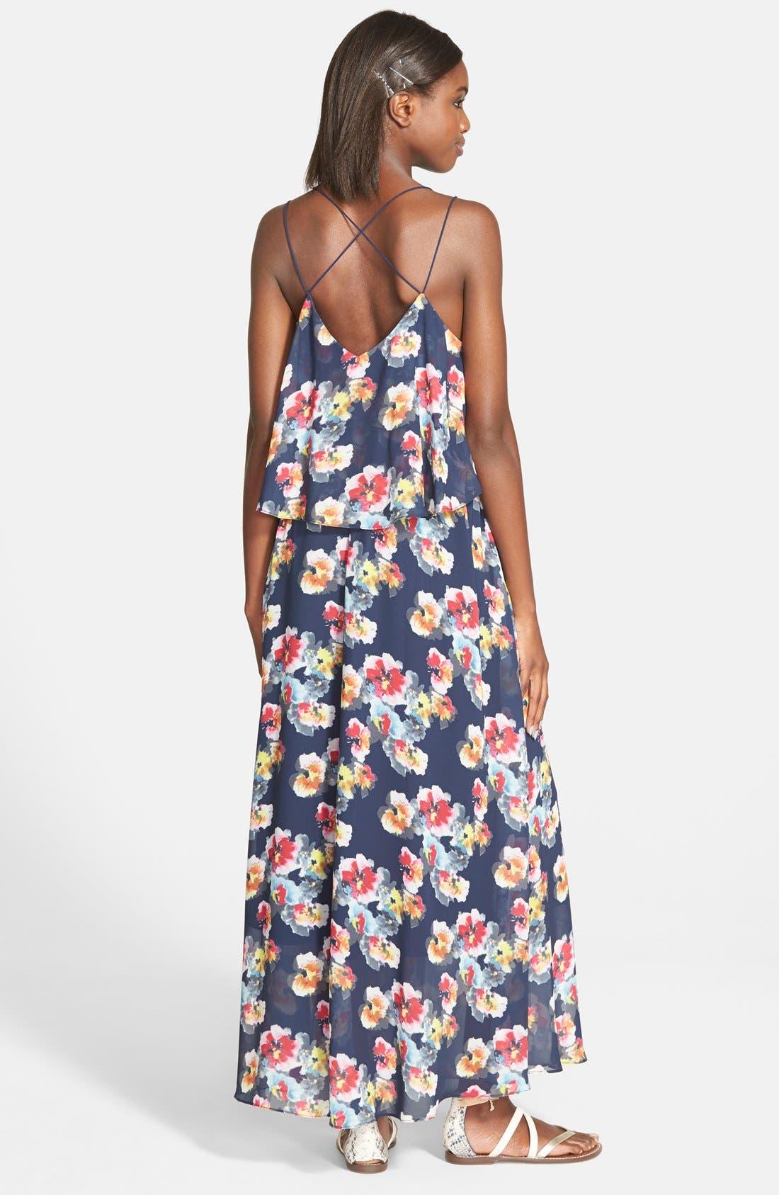 Alternate Image 2  - Lucy Paris 'Bonnie' Floral Maxi Dress