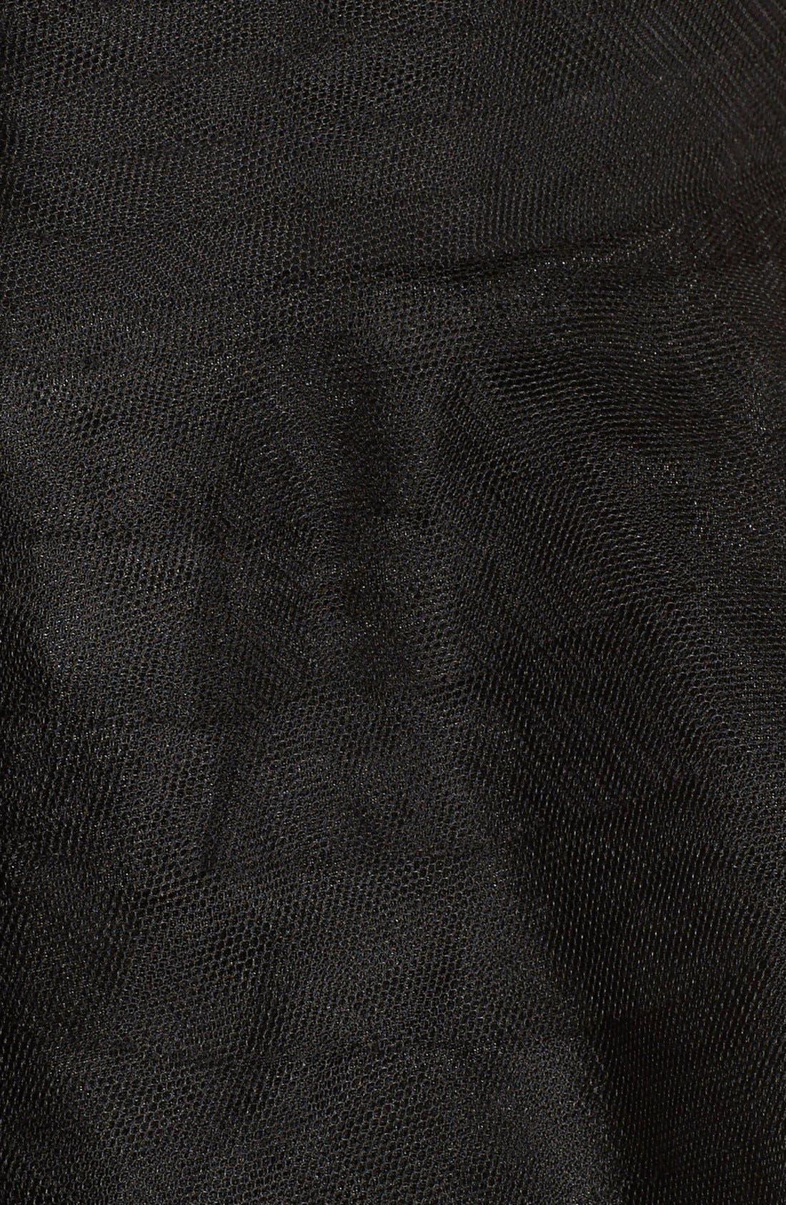 Alternate Image 3  - Adrianna Papell Shutter Pleat Mesh Peplum Gown