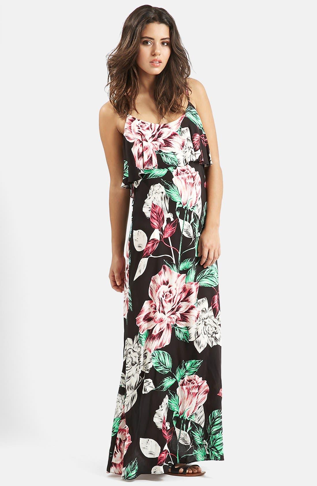 Main Image - KENDALL + KYLIE at Topshop Overlay Maxi Dress