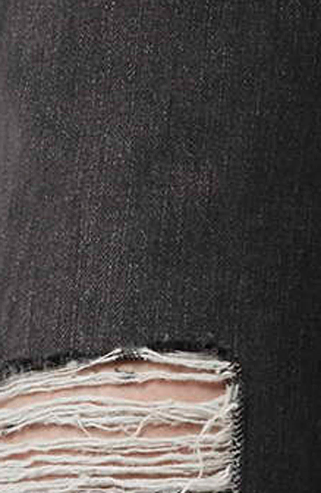 Alternate Image 4  - Topshop Moto 'Hayden' Ripped Boyfriend Jeans (Black)
