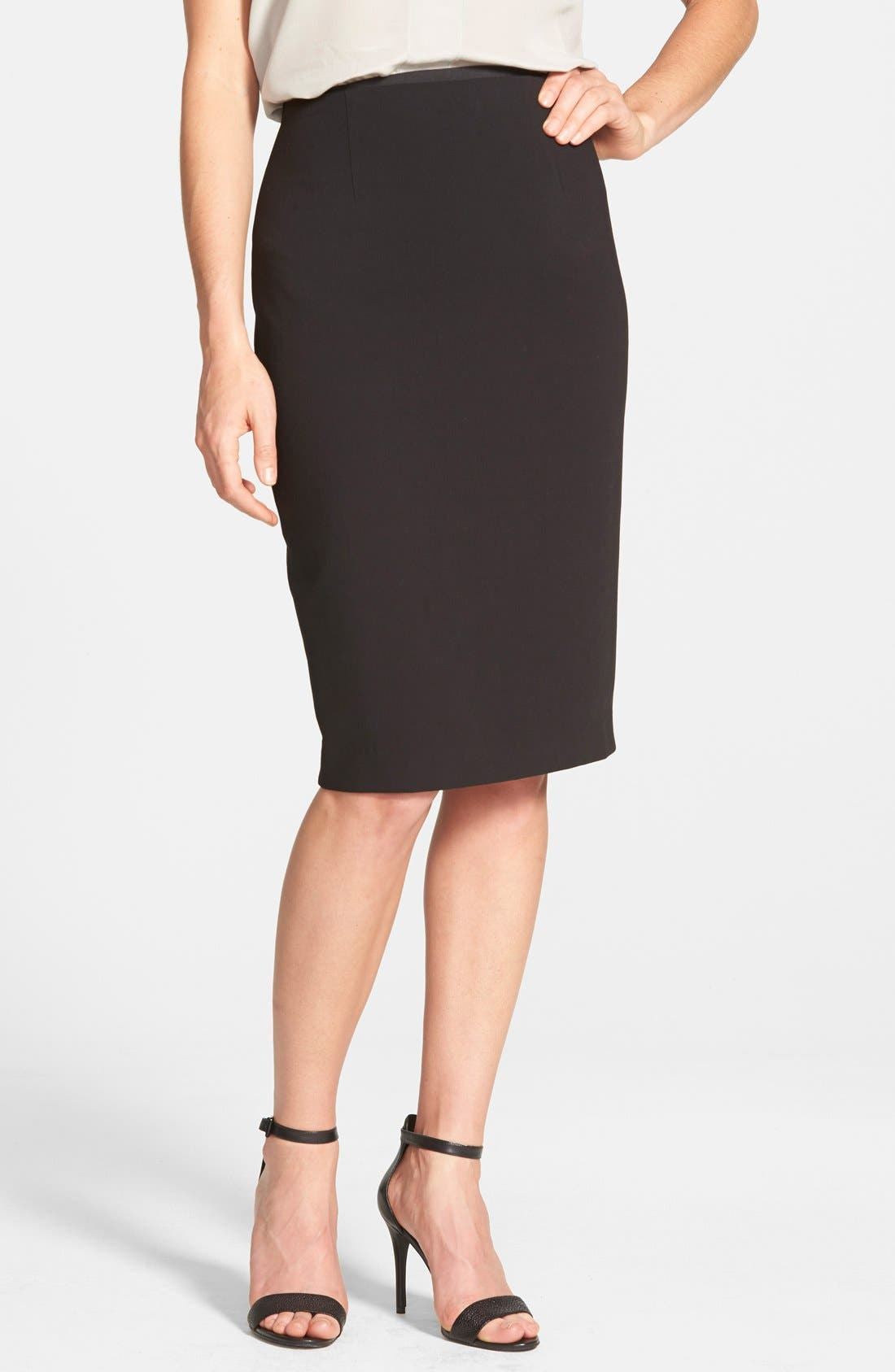 Alternate Image 1 Selected - Halogen® High Waist Pencil Skirt (Regular & Petite)