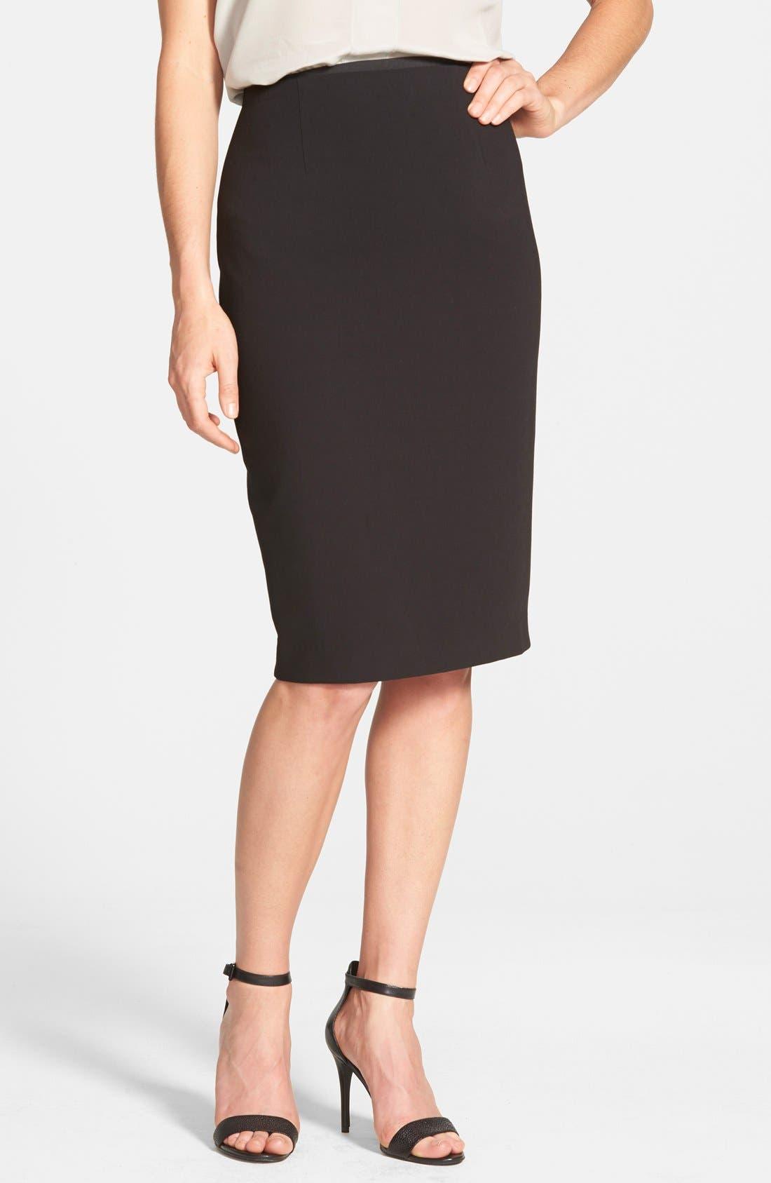 Main Image - Halogen® High Waist Pencil Skirt (Regular & Petite)
