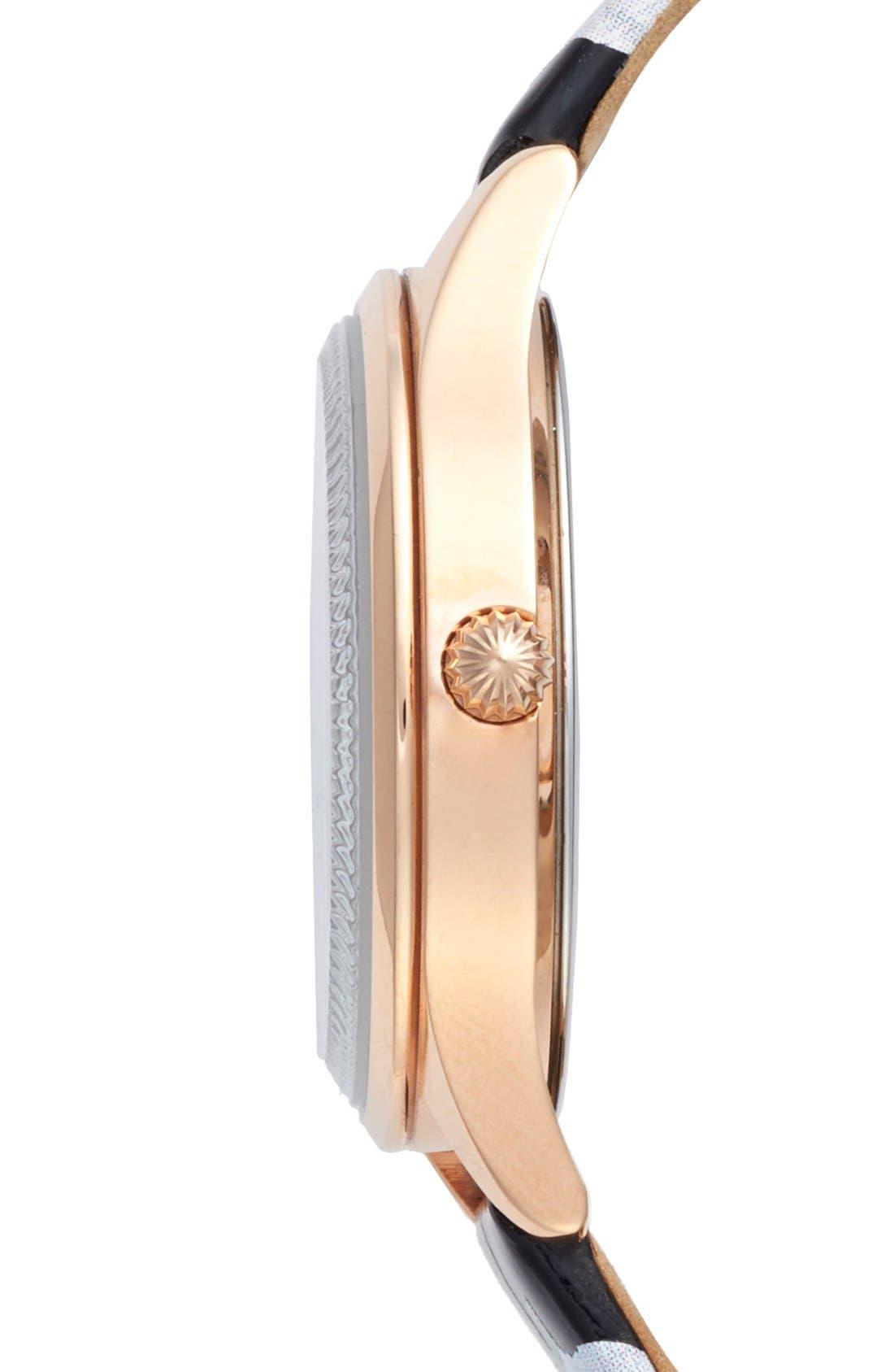 Alternate Image 3  - Ted Baker London 'Dress Sport' Patent Leather Strap Watch, 32mm