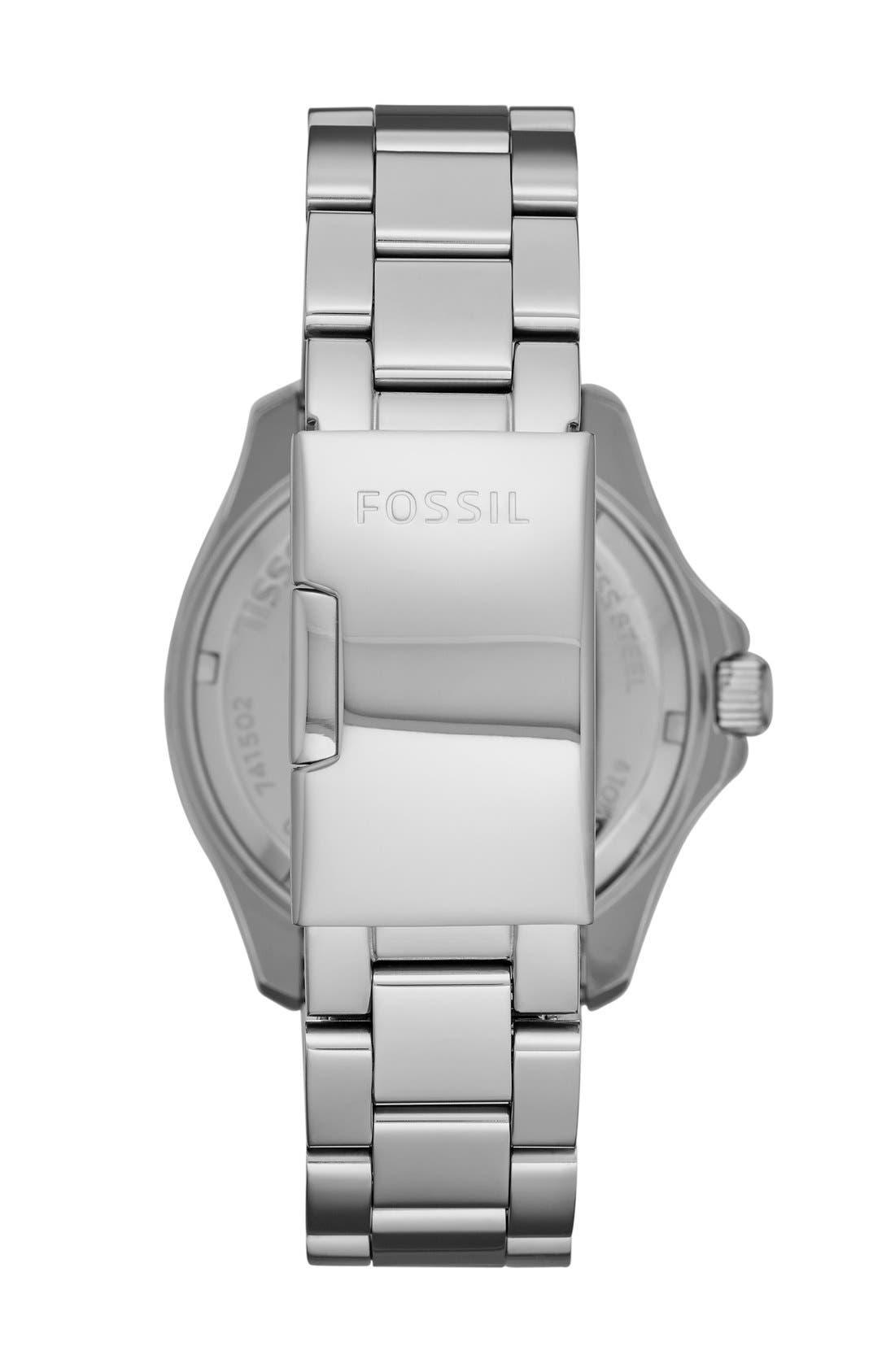 Alternate Image 2  - Fossil 'Cecile' Crystal Bezel Chronograph Bracelet Watch, 40mm (Nordstrom Exclusive)