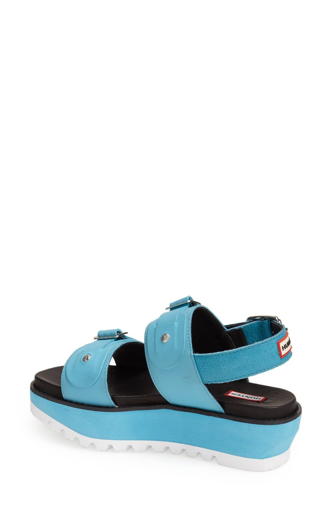 Alternate Image 4  - Hunter Double Buckle Mid Flatform Sandal (Women)