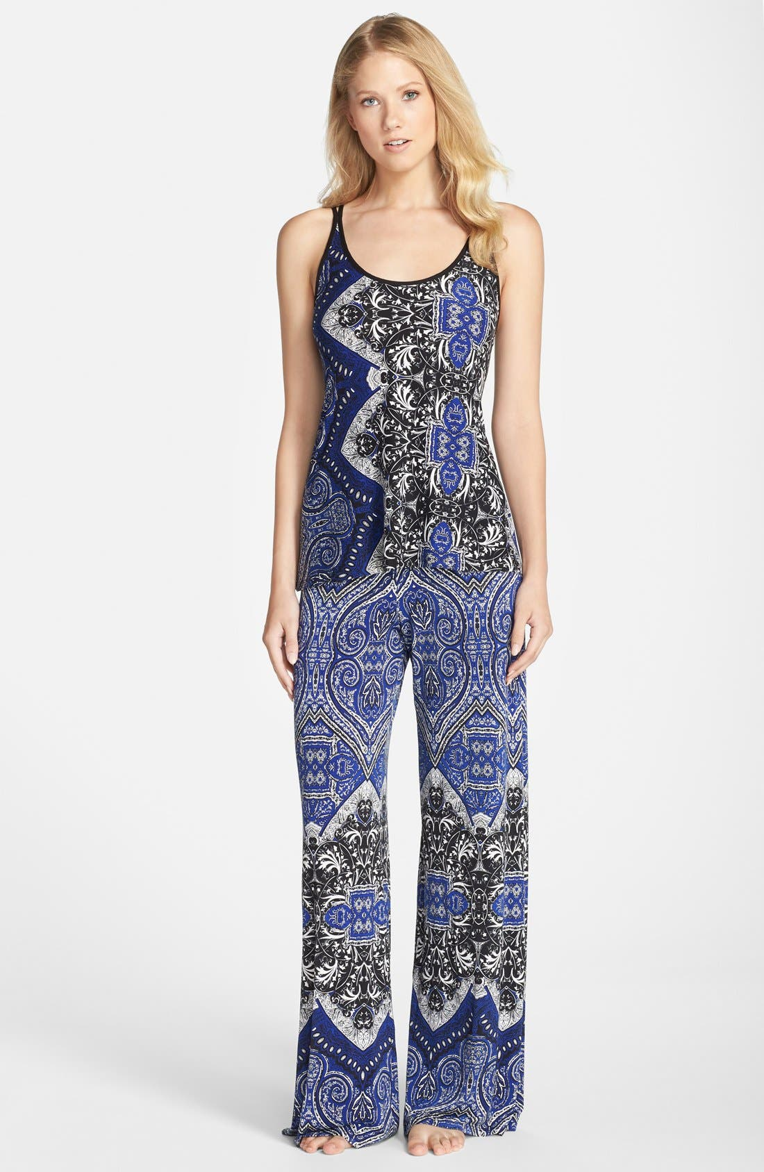 Alternate Image 3  - In Bloom by Jonquil Tapestry Print Lounge Pants