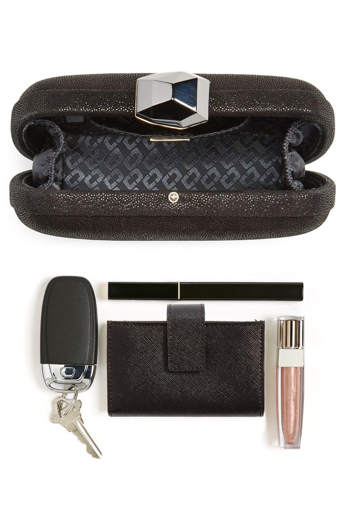 Alternate Image 7  - Diane von Furstenberg 'Powerstone Sparkle Caviar' Leather Minaudiere