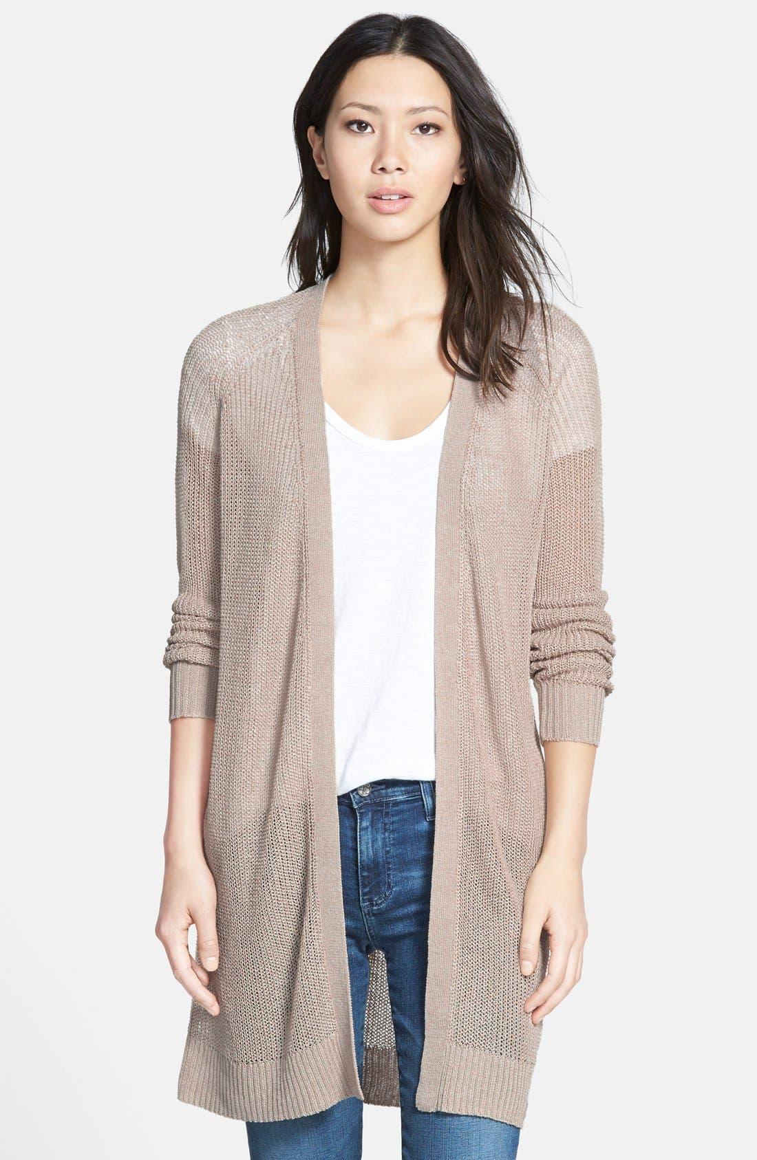 Main Image - Halogen® Raglan Sleeve Long Cardigan (Regular & Petite)