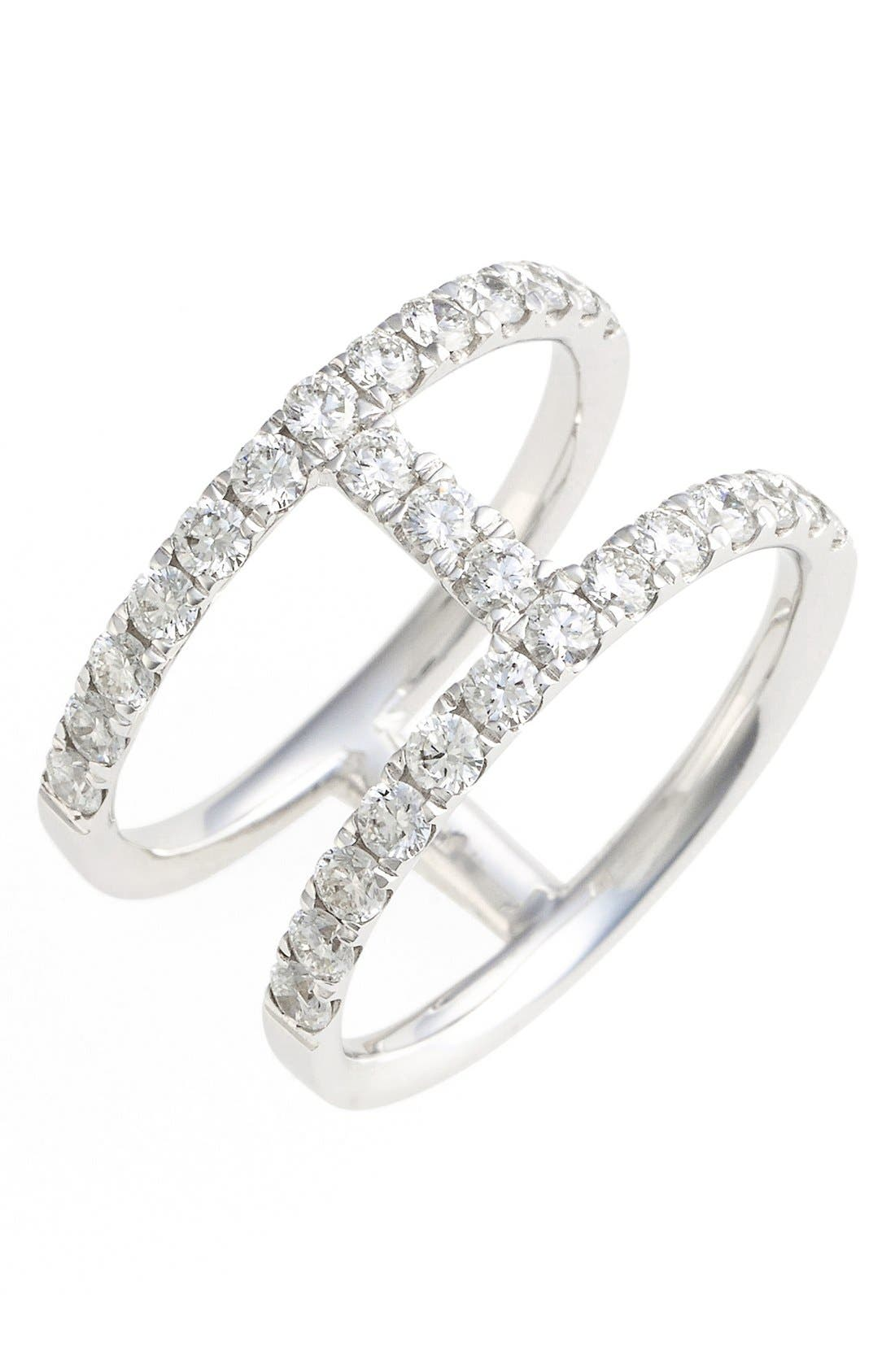 Main Image - Bony Levy 'Prism' Two-Row Bar Diamond Ring (Nordstrom Exclusive)