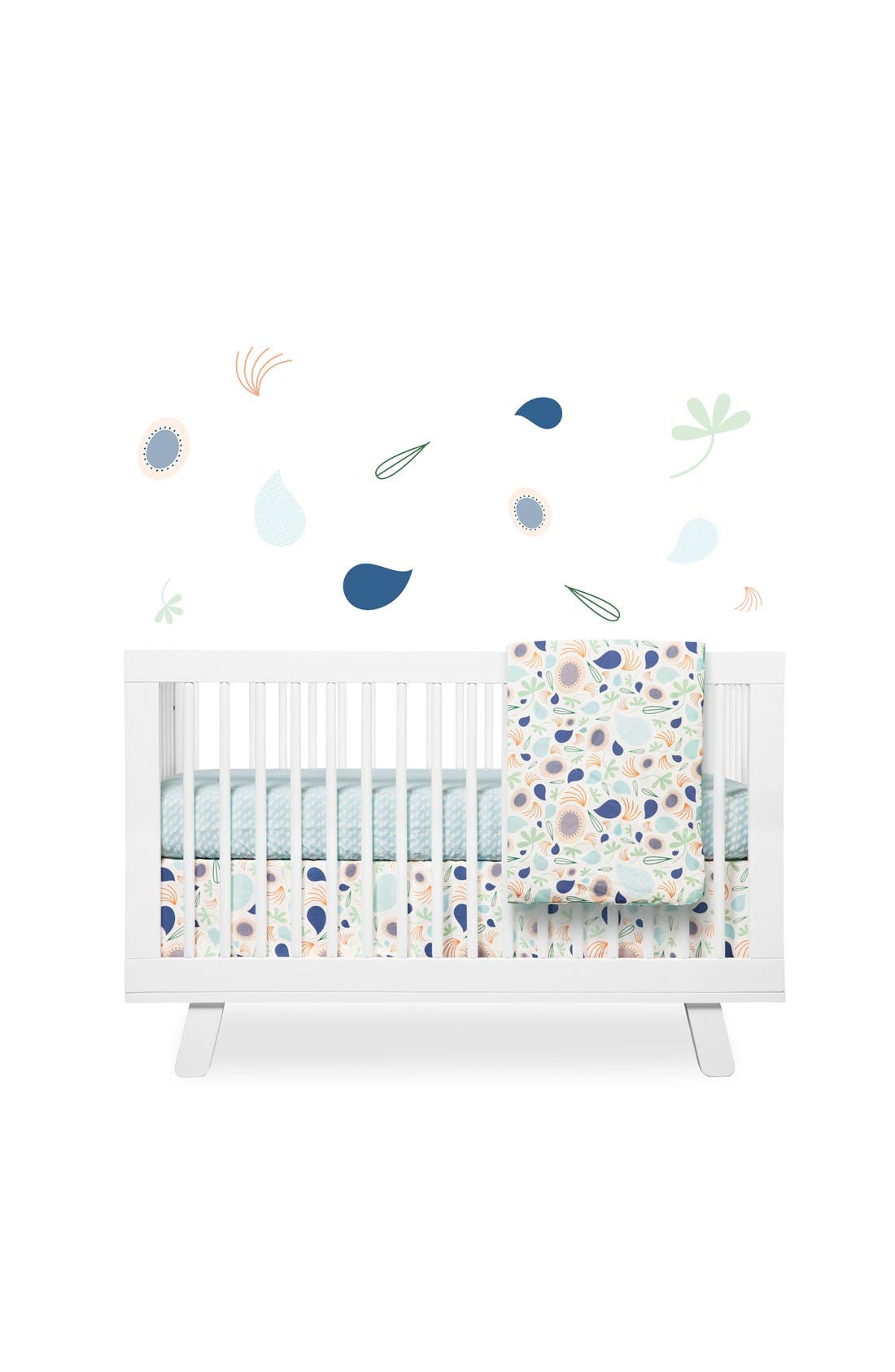 BABYLETTO 'Flora' Crib Sheet, Crib Skirt, Contour Changing