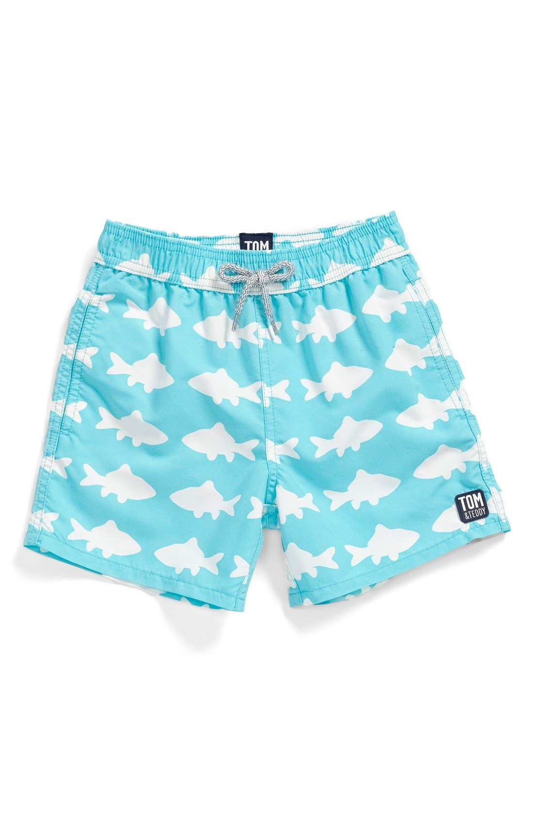 TOM & TEDDY 'Fish Pattern' Swim Trunks