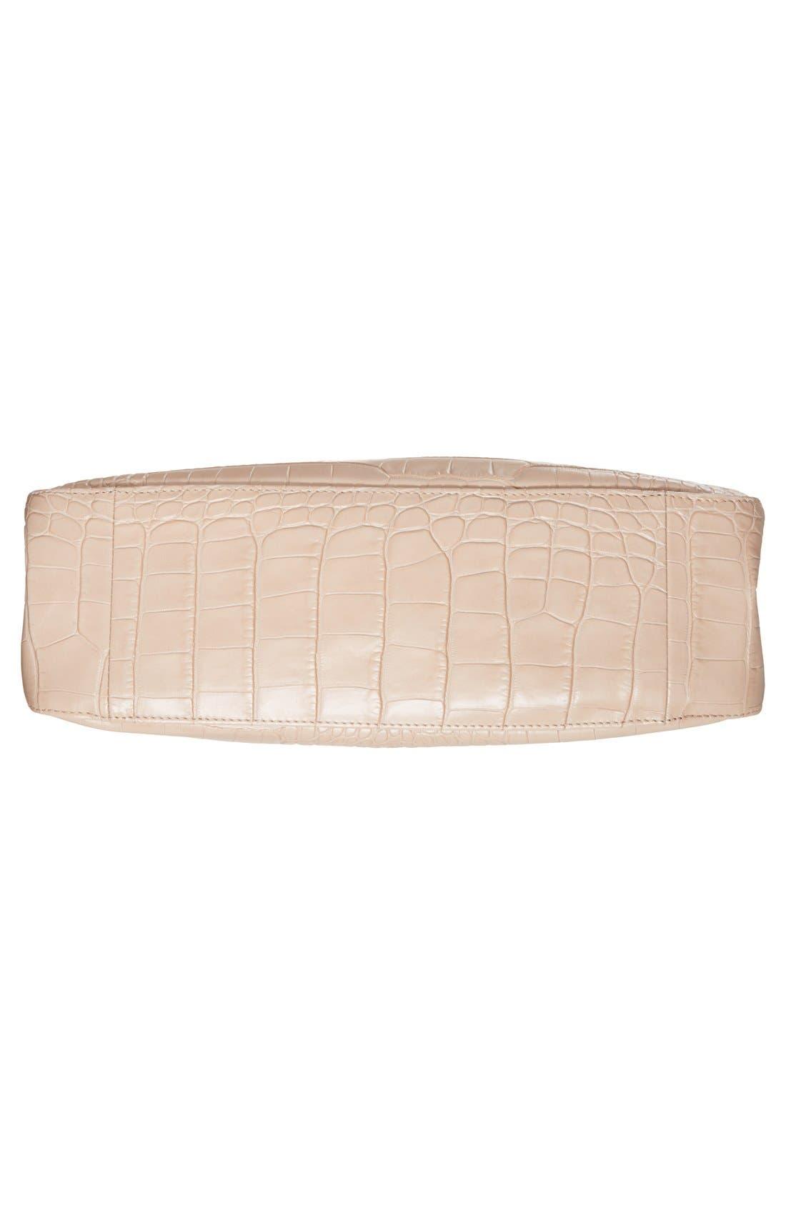 Alternate Image 6  - Longchamp 'Small Roseau Croco' Shoulder Tote