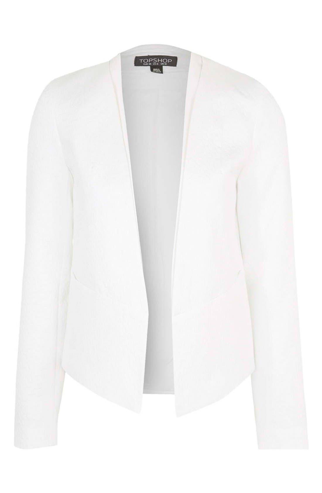 Alternate Image 3  - Topshop 'Poppy' Textured Double Collar Blazer