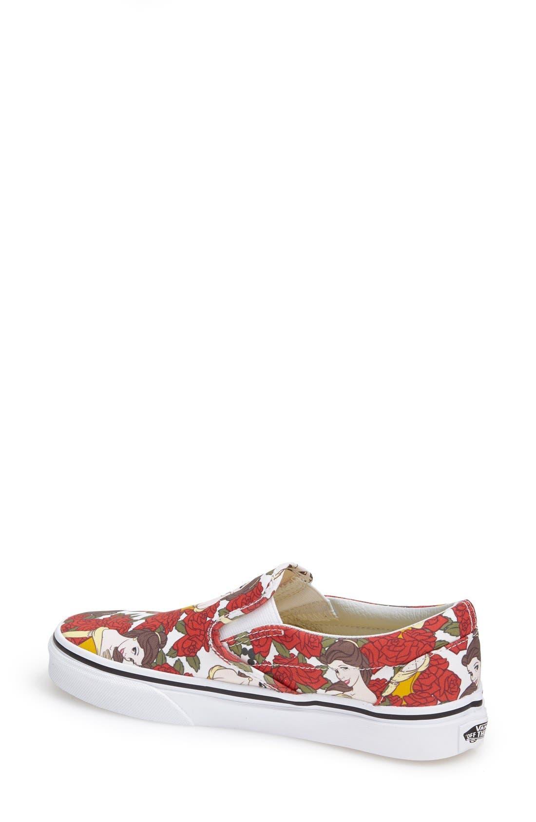Alternate Image 3  - Vans 'Classic - Disney® Belle' Slip-On Sneaker (Women)