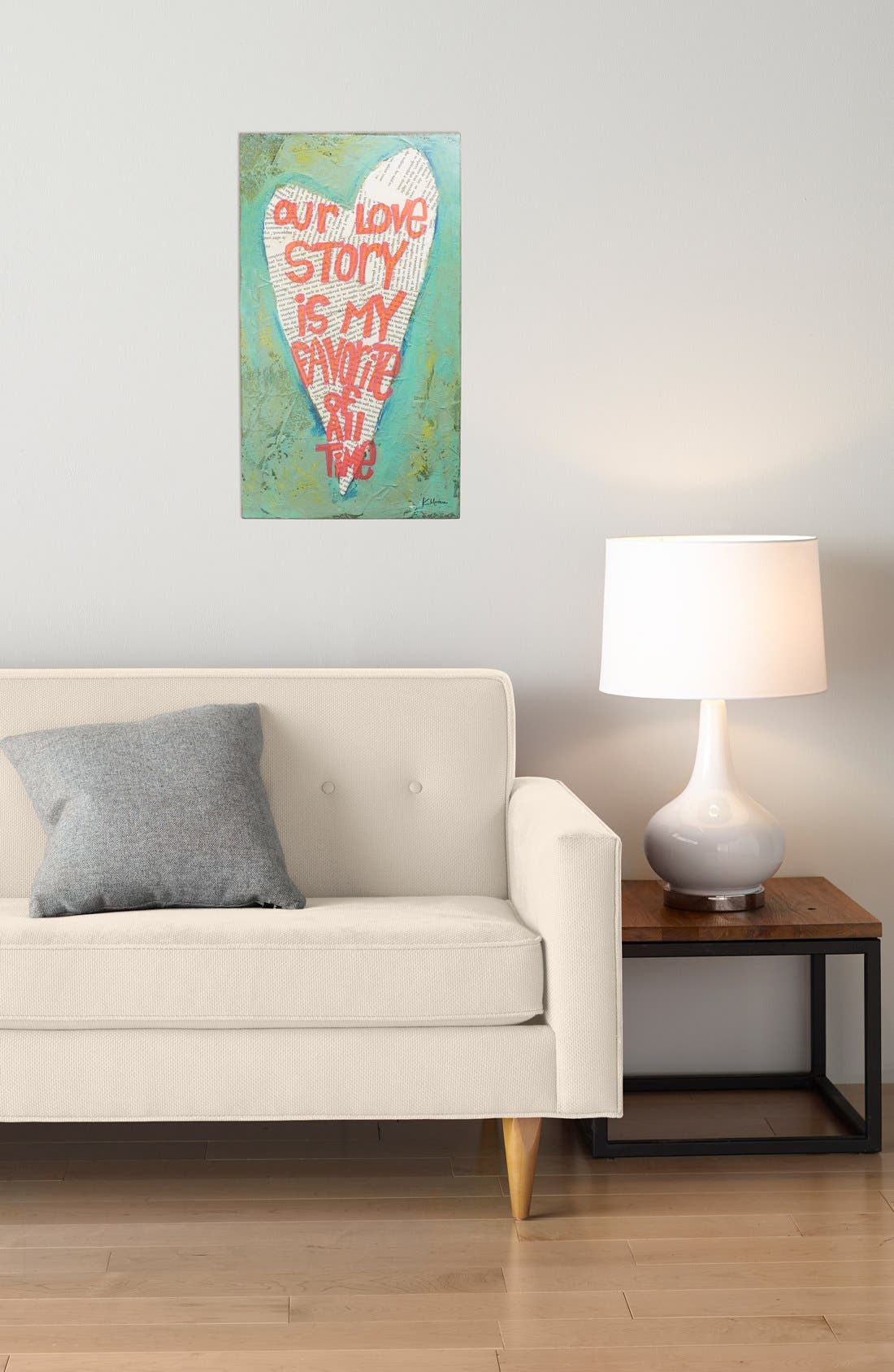 Alternate Image 2  - Creative Co-Op 'Our Love Story' Wall Plaque