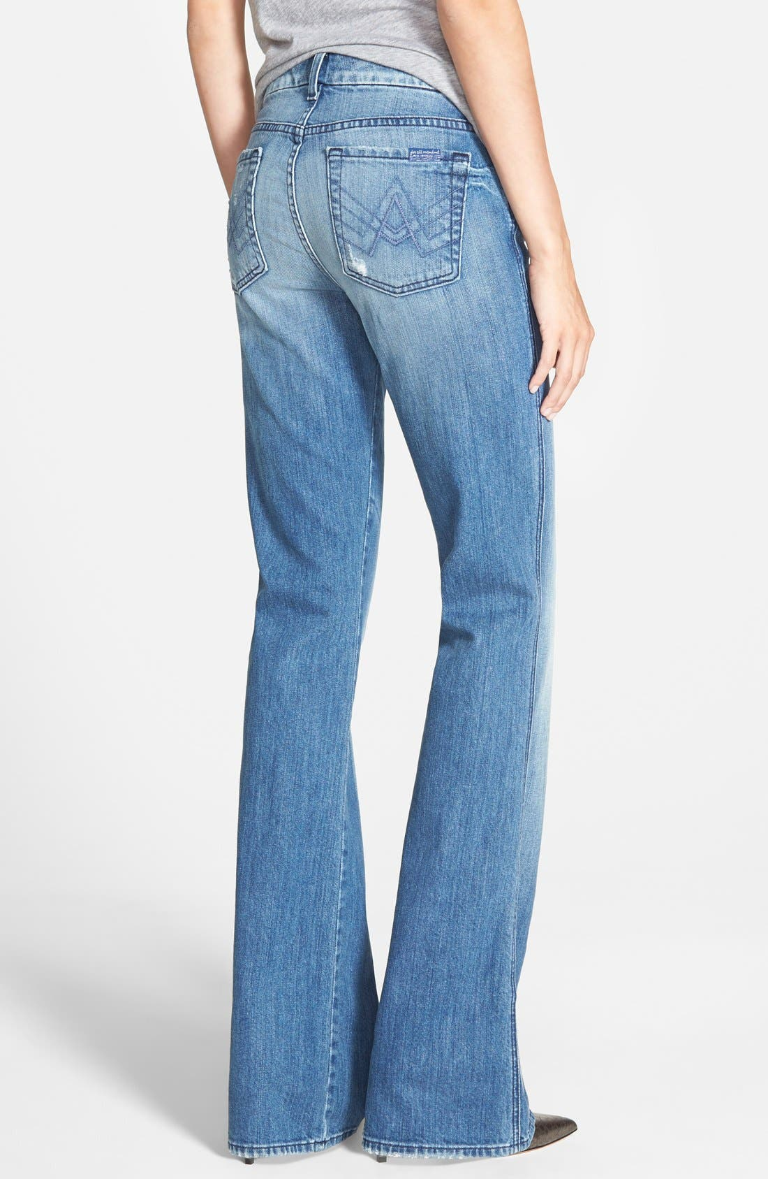 Alternate Image 2  - 7 For All Mankind® 'A-Pocket' Distressed Bootcut Jeans (Red Cast Heritage)