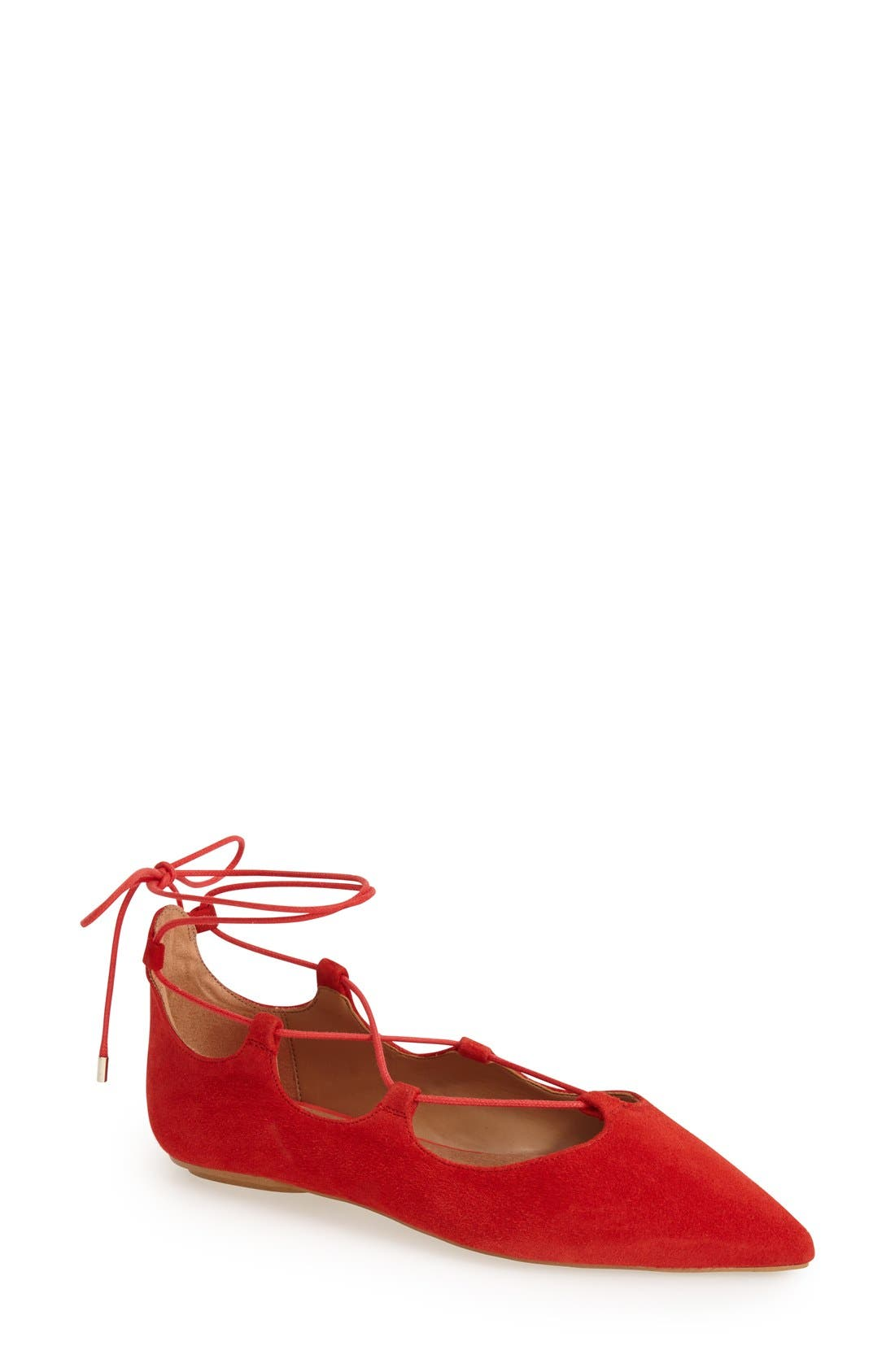 Alternate Image 1 Selected - Topshop 'Leather Kingdom' Pointy Toe Flat (Women)