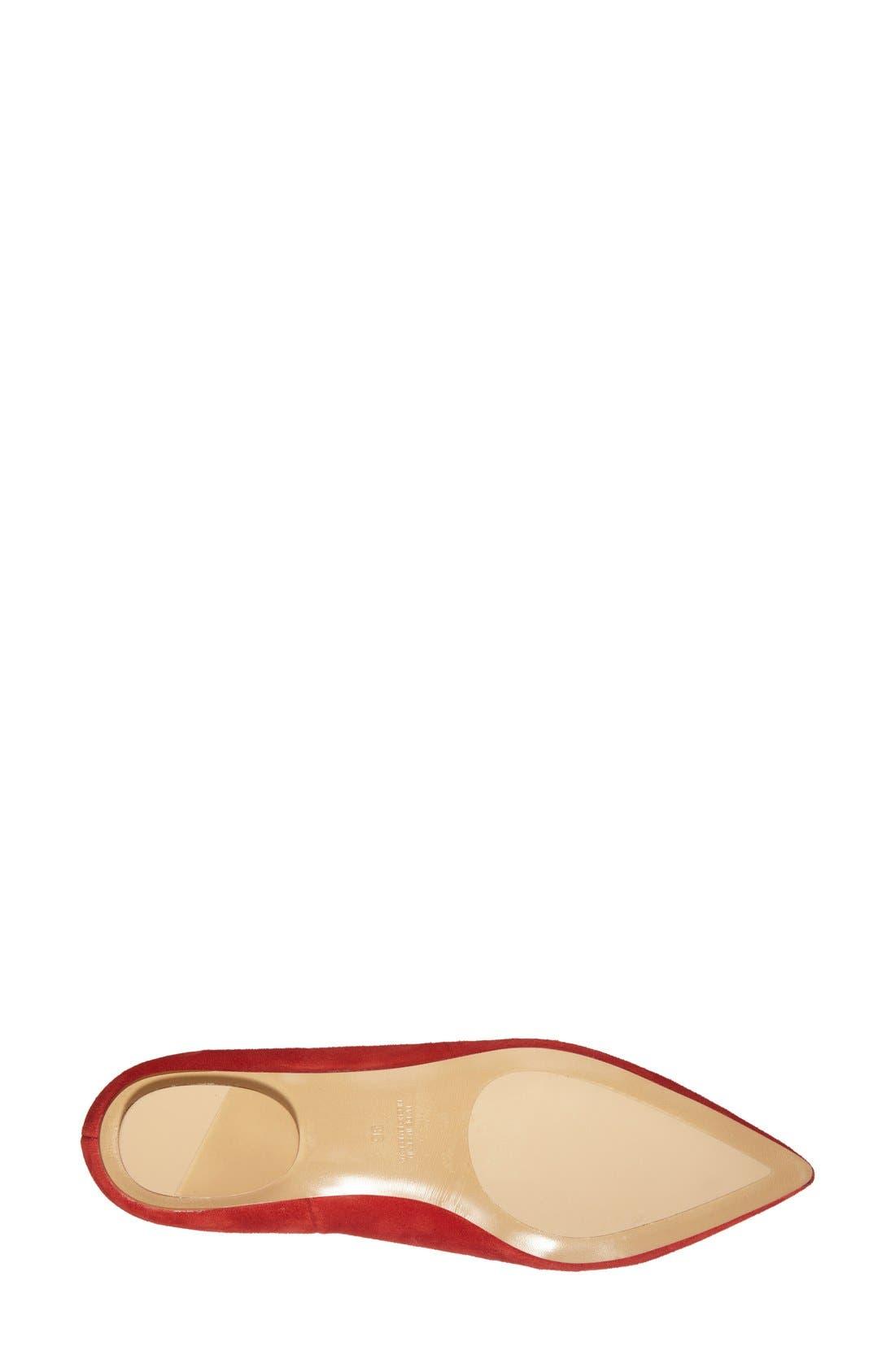 Alternate Image 4  - Topshop 'Leather Kingdom' Pointy Toe Flat (Women)