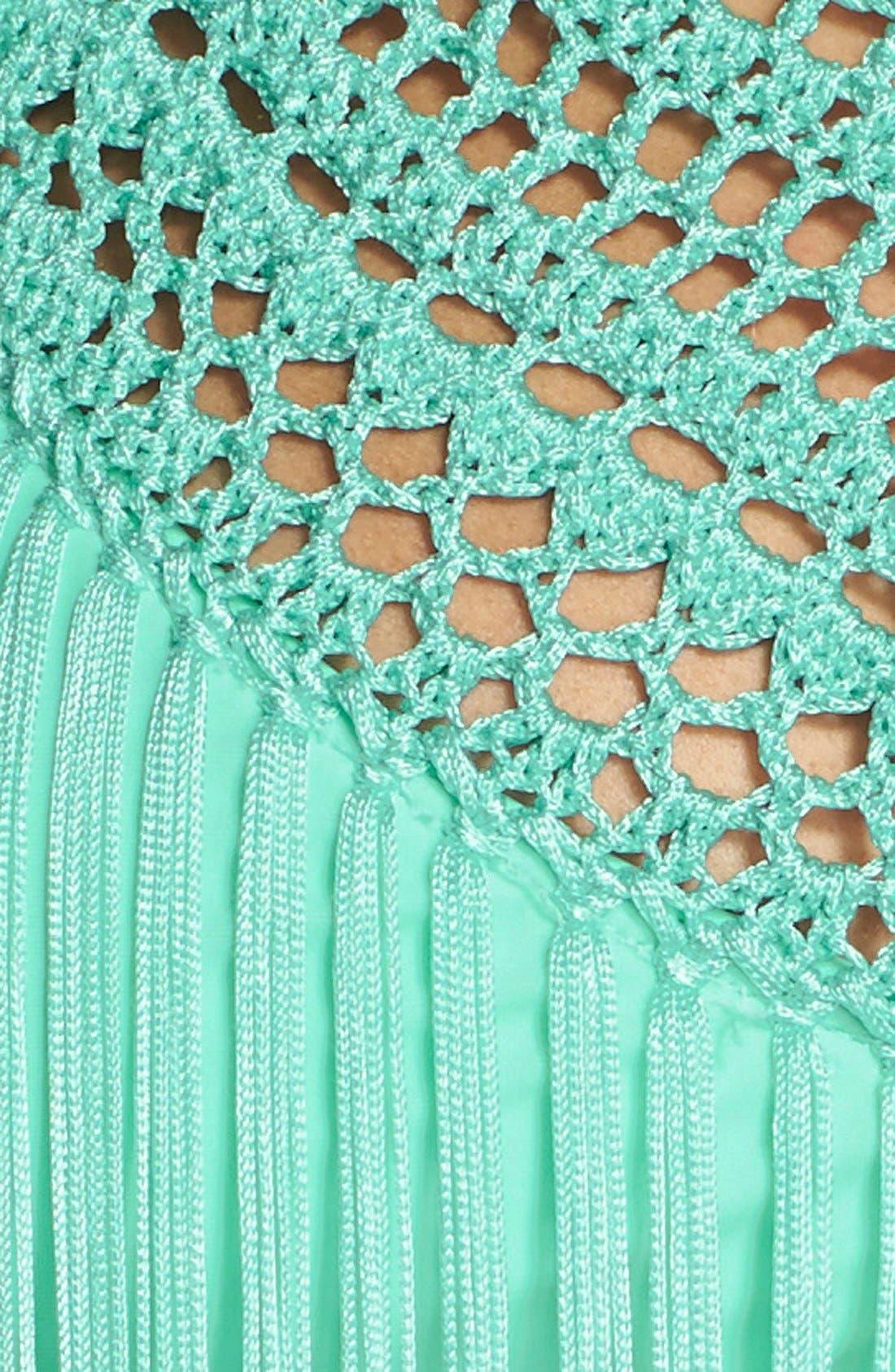 Alternate Image 5  - The Bikini Lab Crochet Neck Bikini Top with Fringe