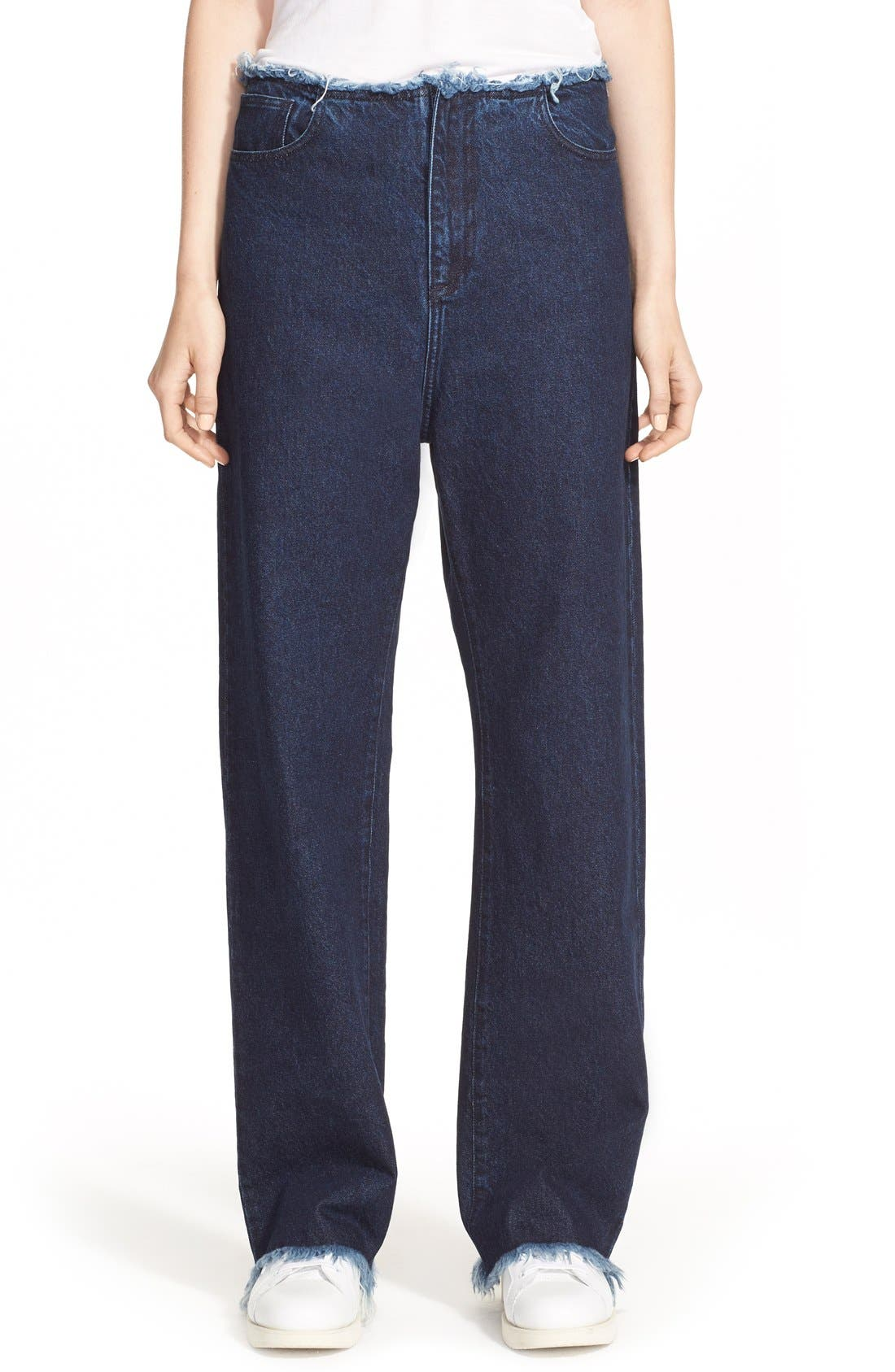 Alternate Image 1 Selected - Marques'Almeida Relaxed Boyfriend Jeans