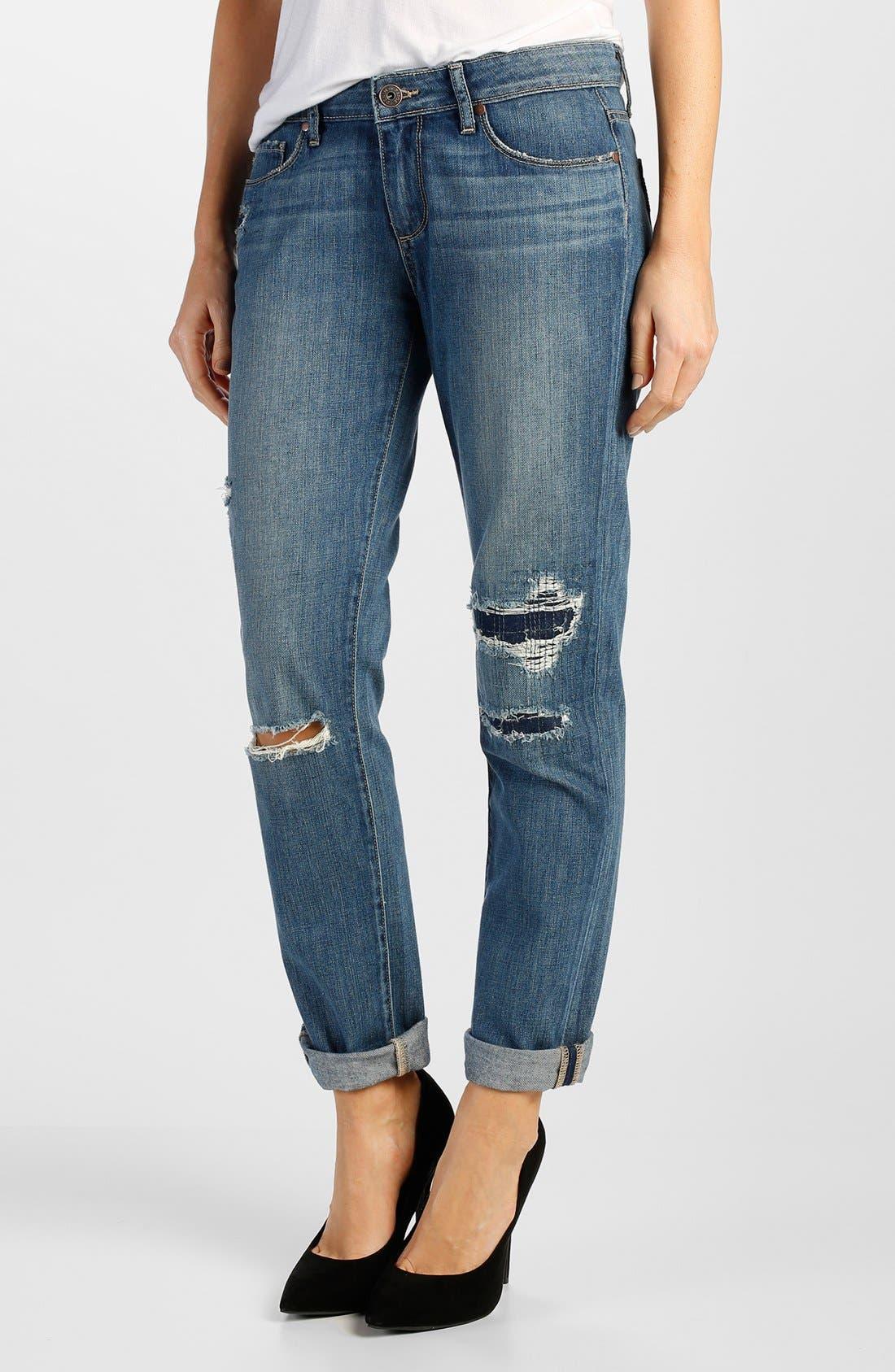 Main Image - Paige Denim 'Jimmy Jimmy' Boyfriend Jeans (Esme Destructed)