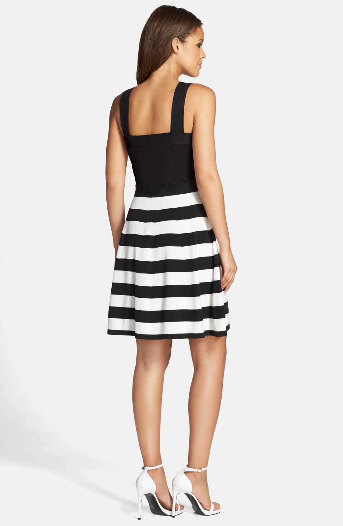 Alternate Image 2  - Trina Turk 'Envy' Stripe Sweater Dress