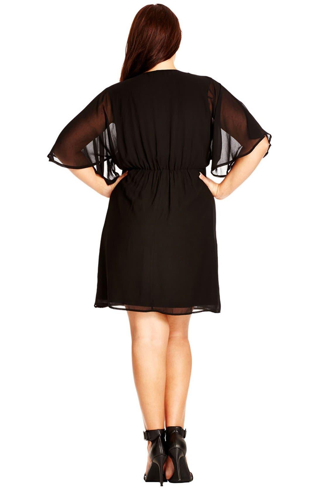Alternate Image 2  - City Chic 'Class' Chiffon Wrap Dress (Plus Size)