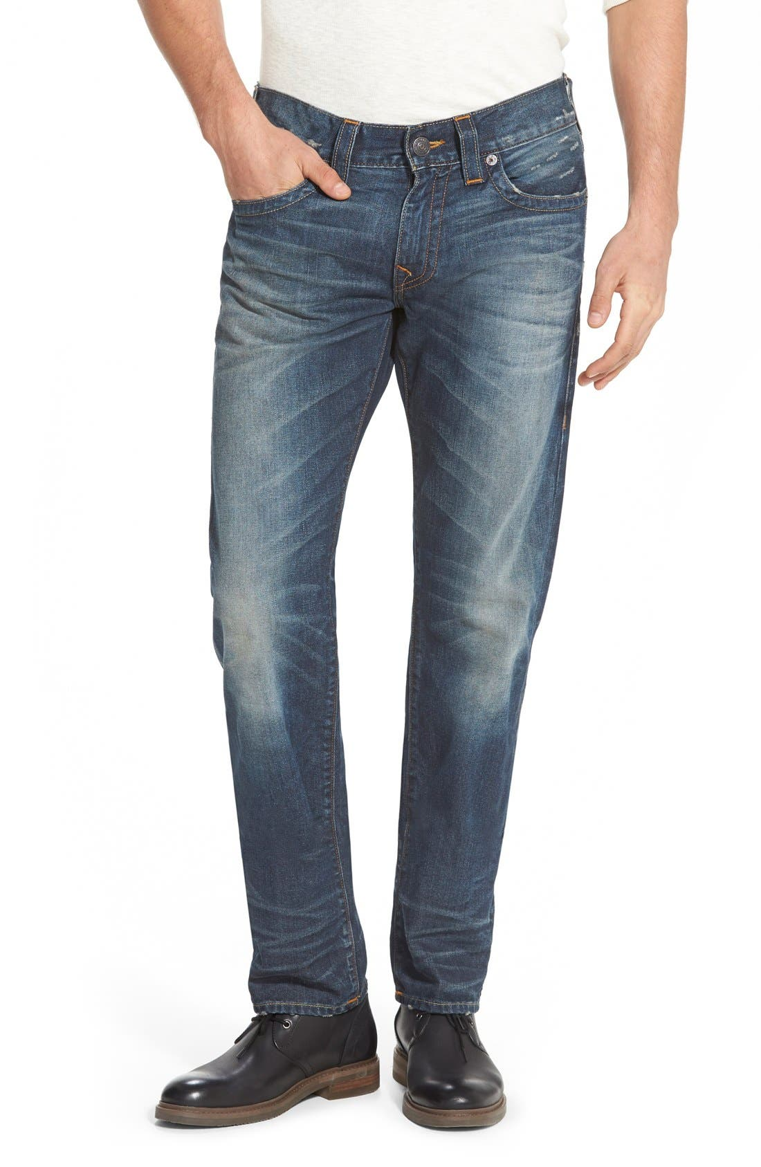 True Religion 'Geno' Straight Leg Jeans (Urban Dweller)