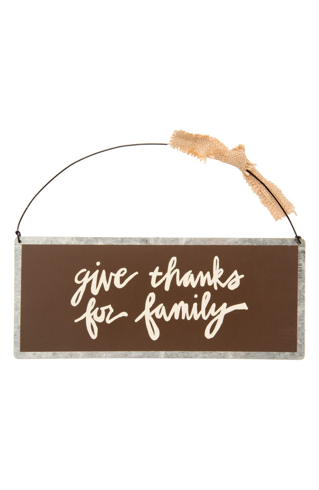 Alternate Image 1 Selected - Primitives by Kathy 'Give Thanks for Family' Sign