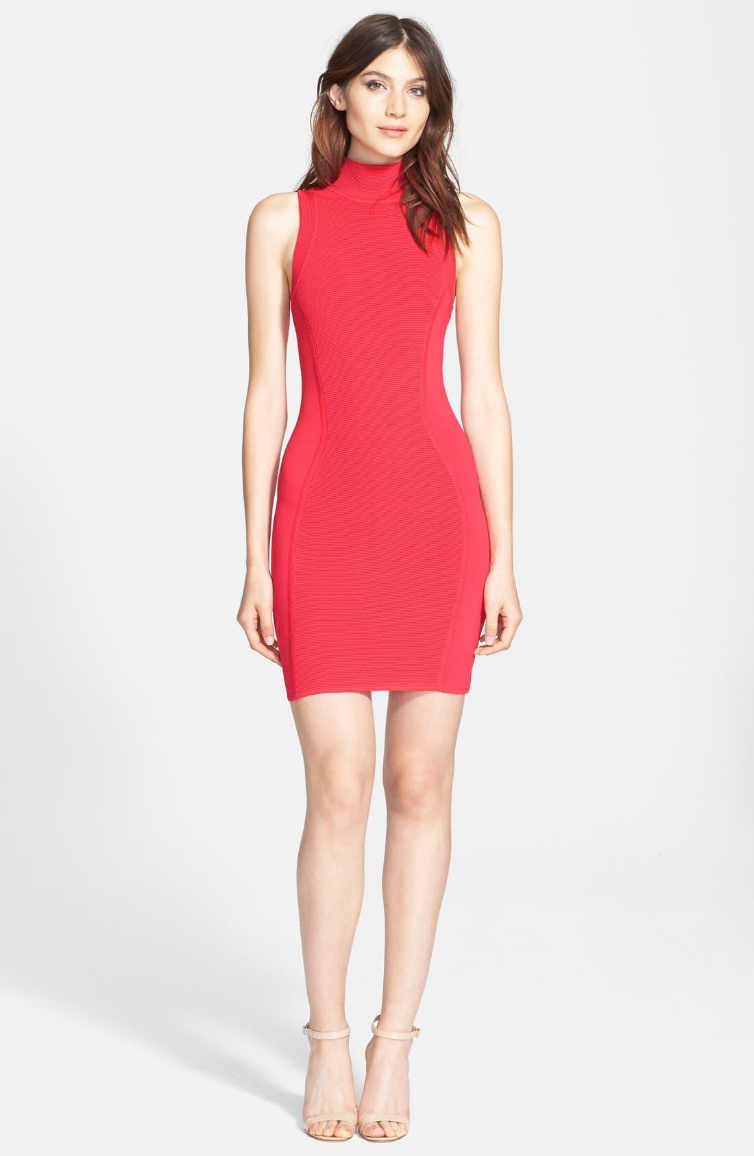 Main Image - Parker 'Amy' Knit Turtleneck Body-Con Dress