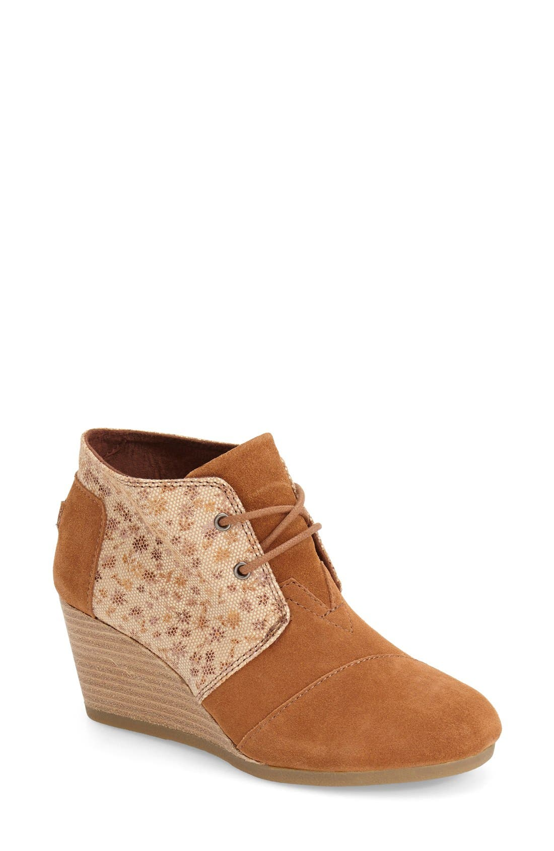 Main Image - TOMS 'Desert' Printed Wedge Bootie (Women)