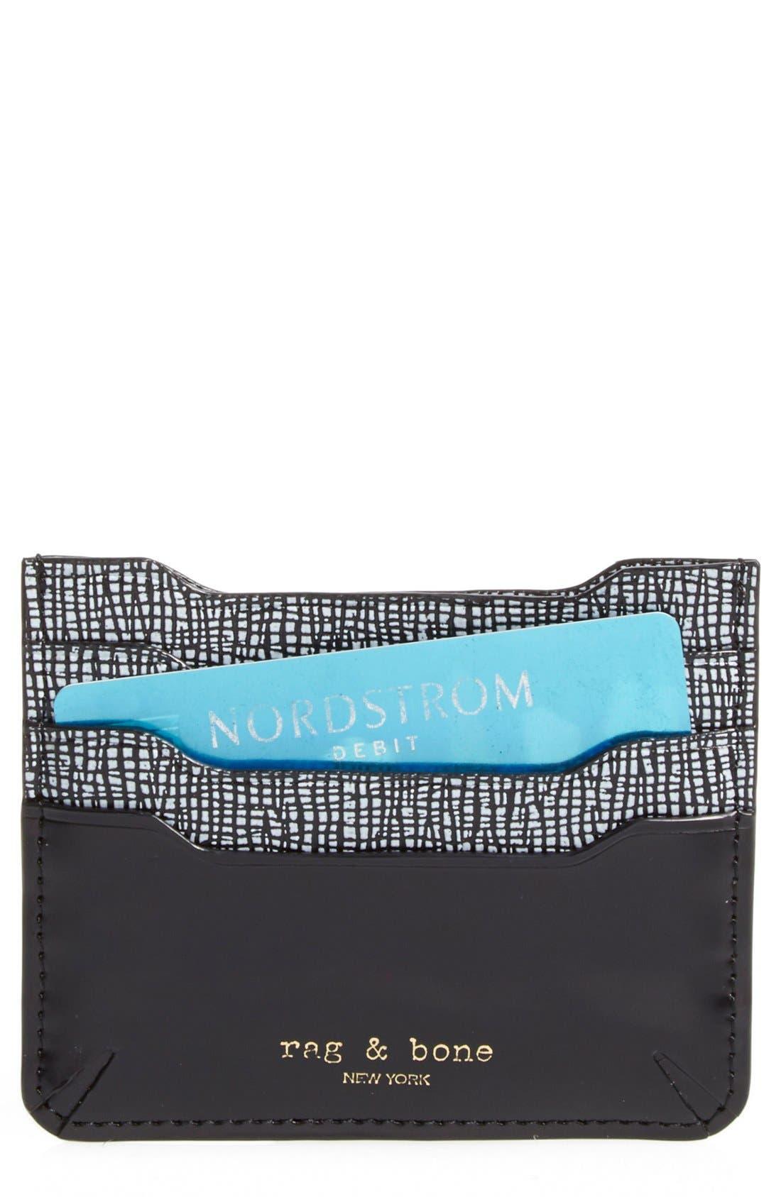 Main Image - rag & bone 'Crosby' Saffiano Leather Card Case