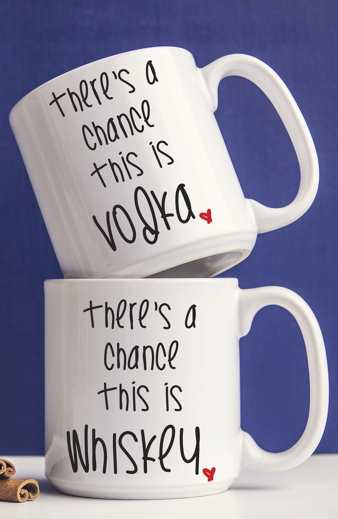 Main Image - Cathy's Concepts 'There's a Chance' Ceramic Coffee Mugs (Set of 2)