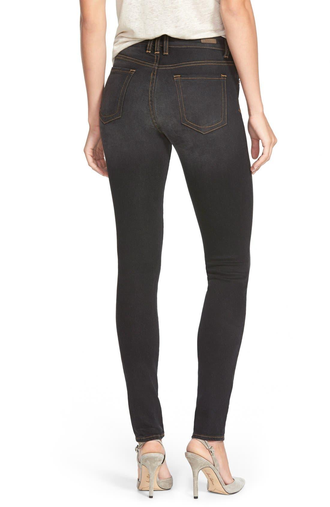 Alternate Image 2  - KUT from the Kloth 'Diana' Stretch Skinny Jeans (Black) (Regular & Petite)