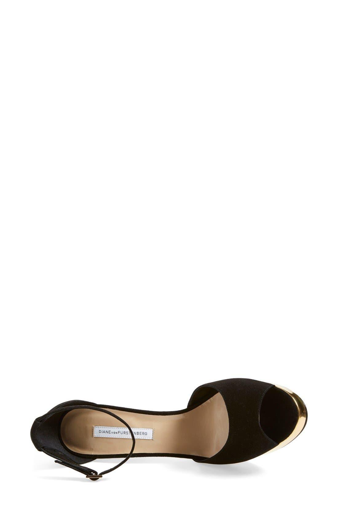 Alternate Image 3  - Diane von Furstenberg 'Daria' Platform Peep Toe Sandal (Women)