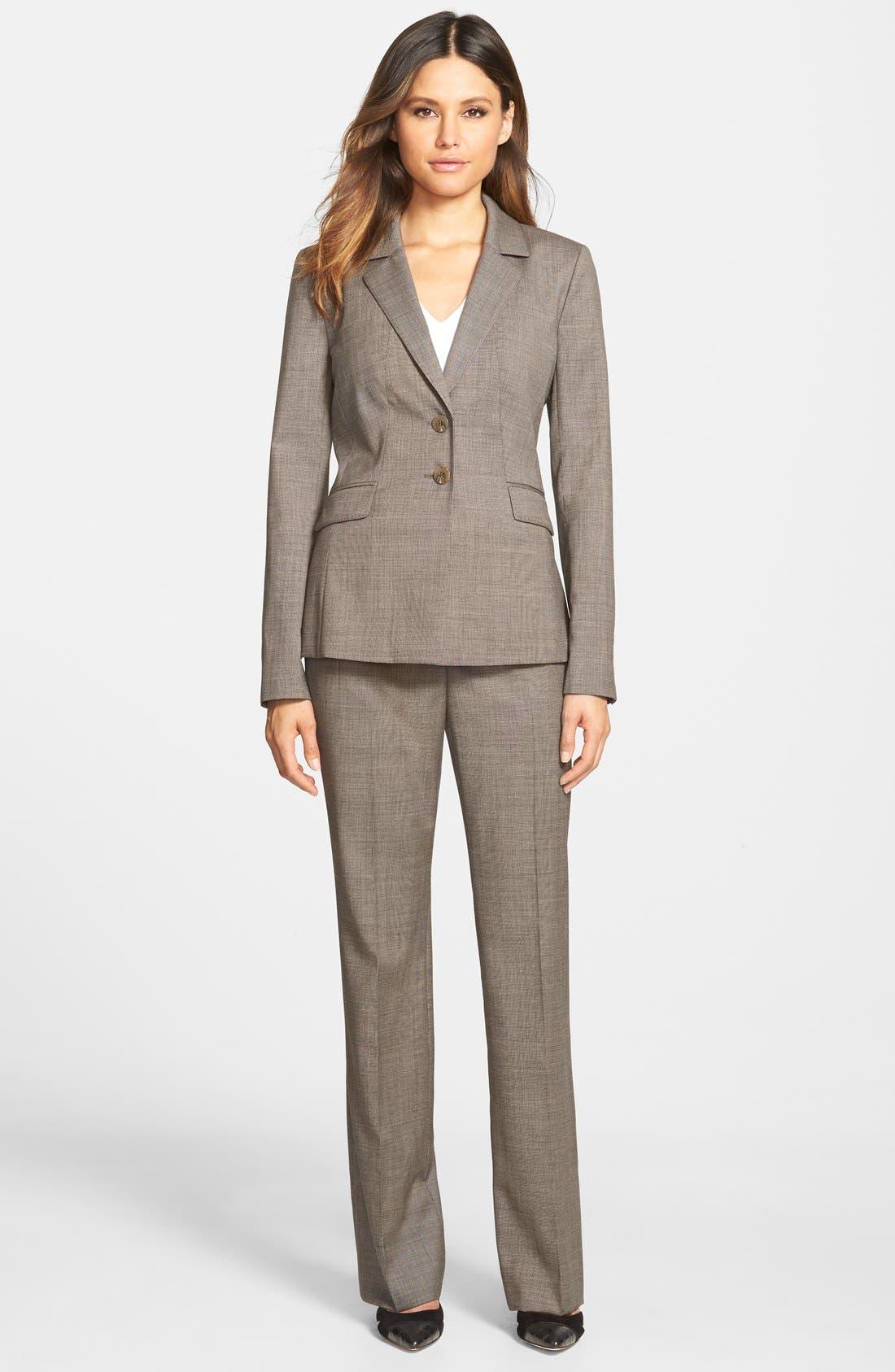 Alternate Image 4  - Classiques Entier® Wool Suiting Pants (Regular & Petite)