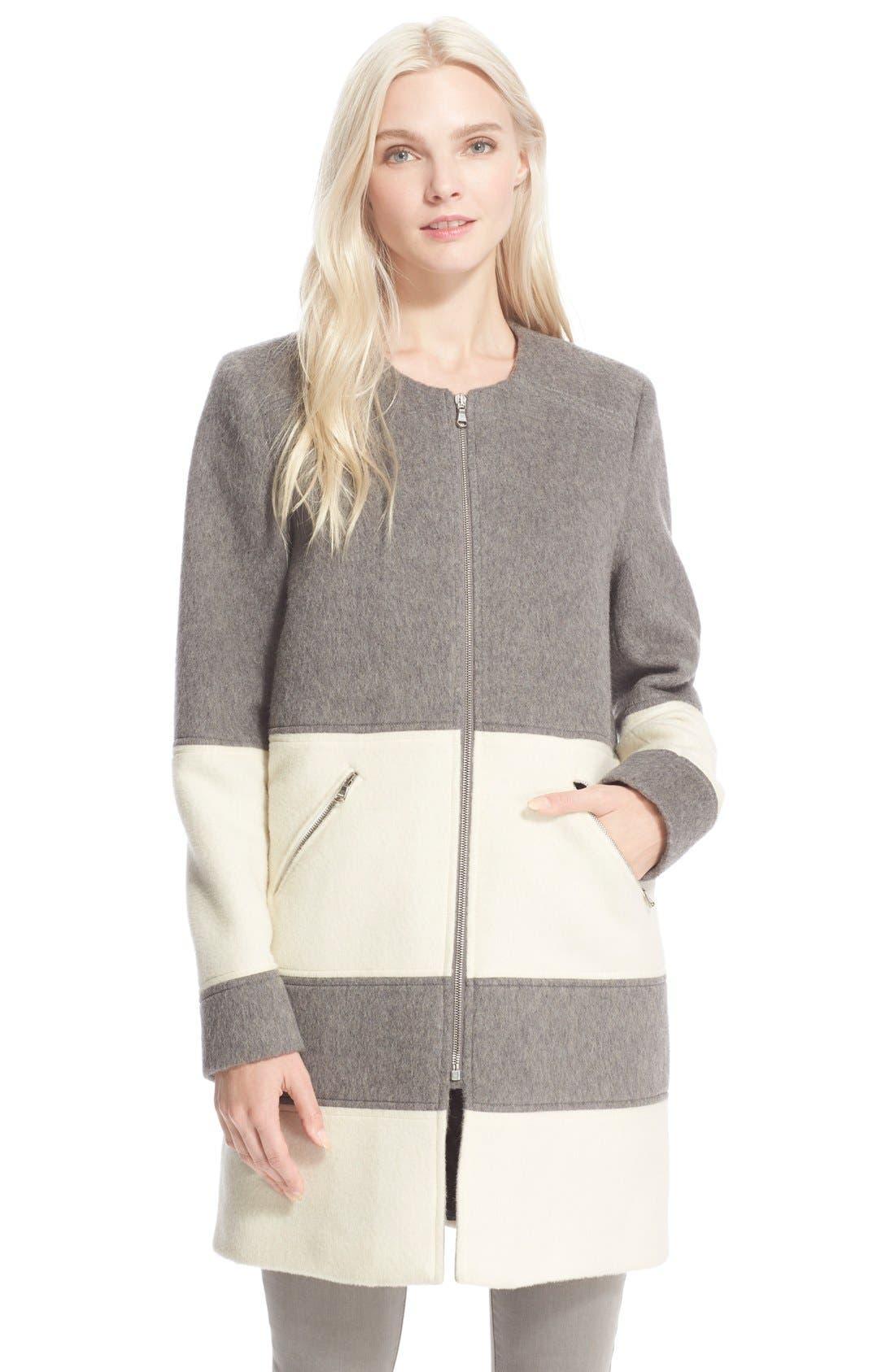 Main Image - Parker 'Hurley' BlanketStripe Wool Coat